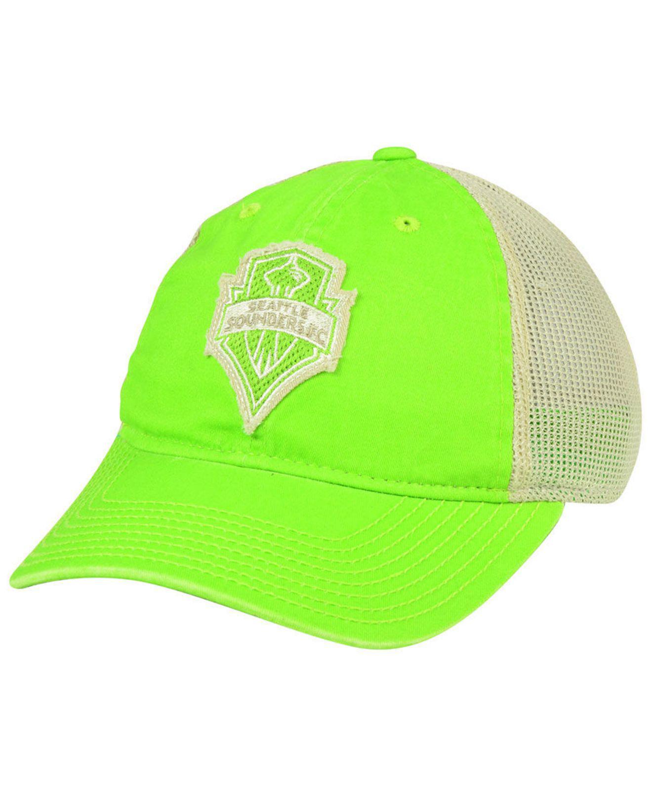 a2083ccc2b2 ... new zealand adidas. womens green seattle sounders fc bleached trucker  cap ffd8e 5429d