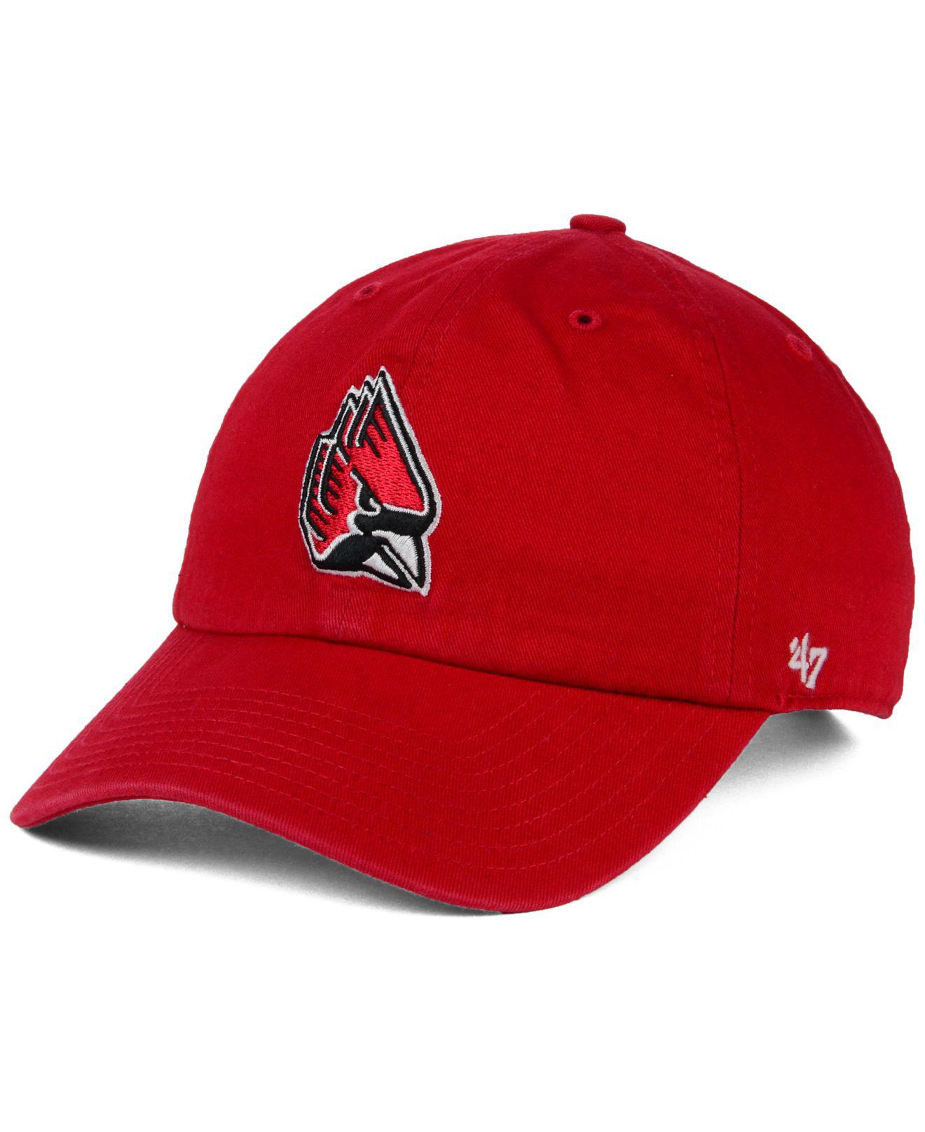 Lyst - 47 Brand Ball State Cardinals Ncaa Clean-up Cap in Red for Men a231fb0fa36d