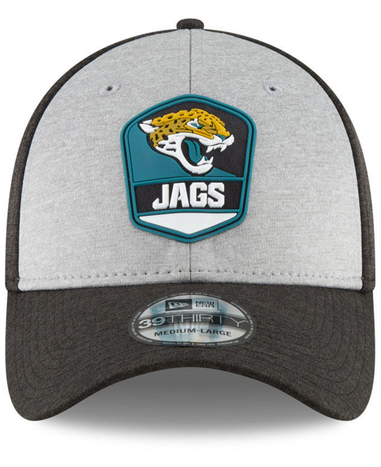 be38f9971 Lyst - KTZ Jacksonville Jaguars On Field Sideline Road 39thirty Stretch  Fitted Cap in Black for Men