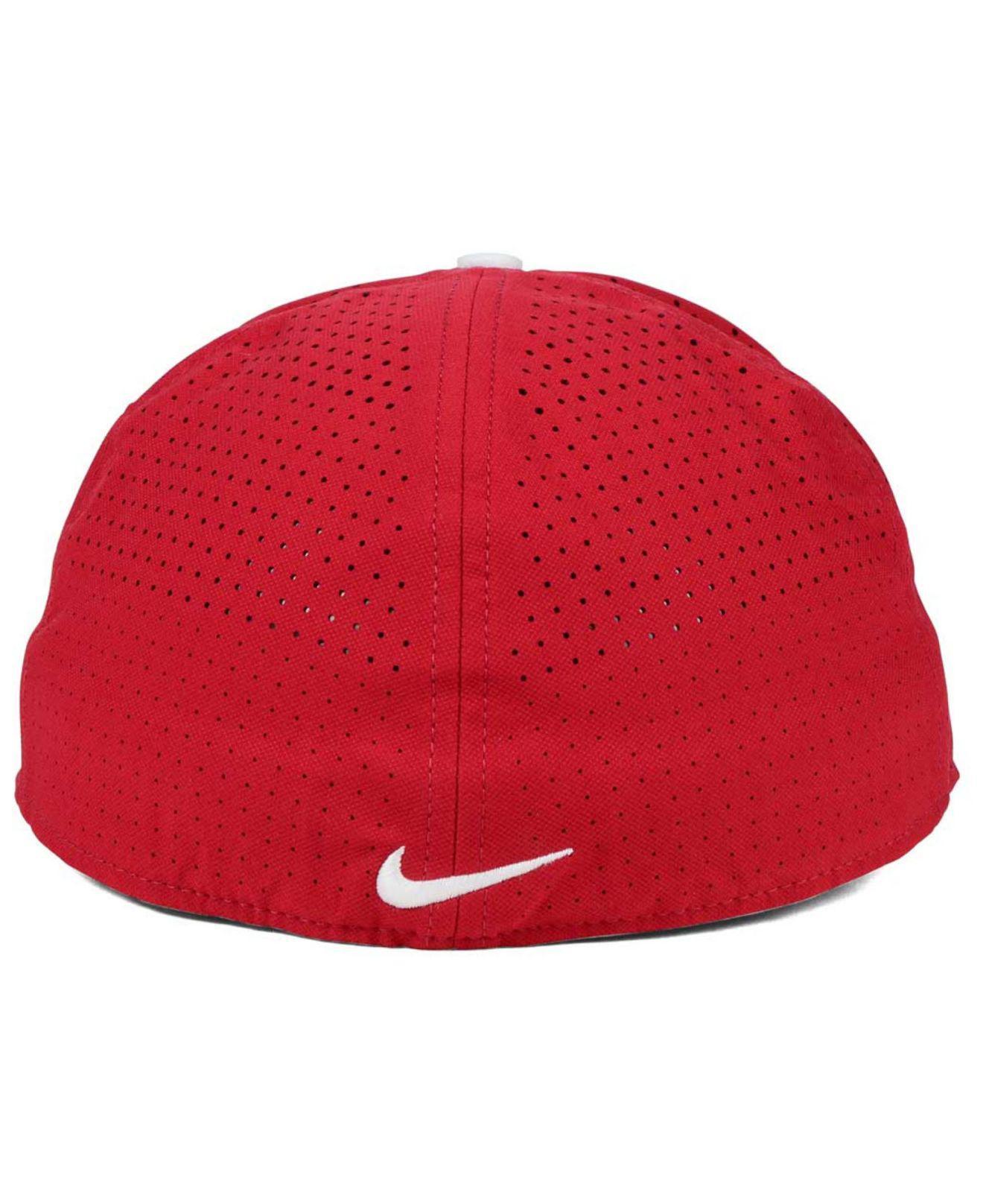 4c465b80a3be1 ... adjustable hat f6e17 b52ea  hot nike red alabama crimson tide true  vapor fitted cap for men lyst. view fullscreen