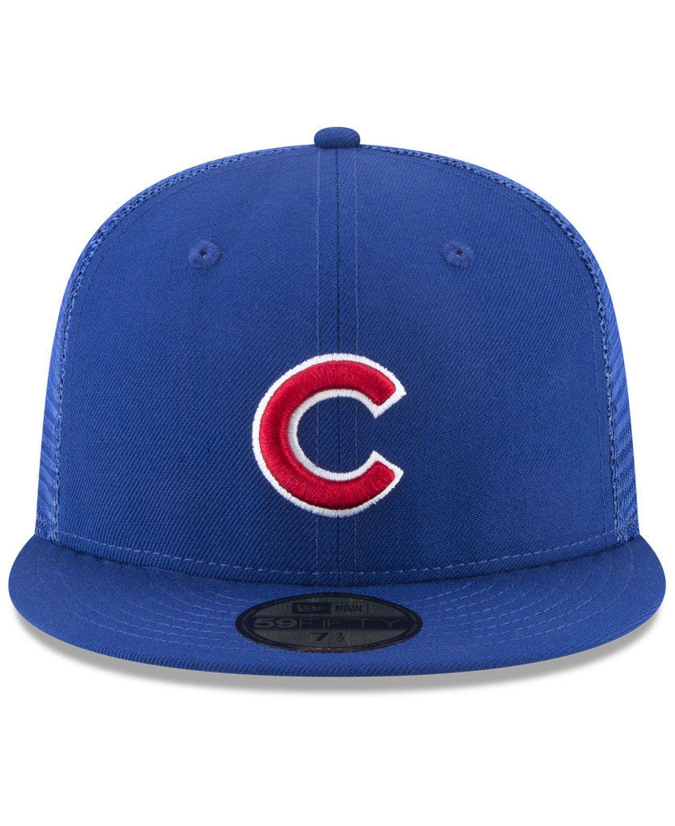 promo code 93f8e 0c870 Lyst - KTZ Chicago Cubs On-field Mesh Back 59fifty Fitted Cap in Blue for  Men