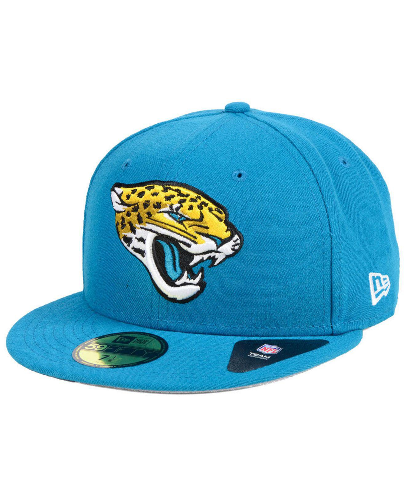 d11ad93ea Lyst - KTZ Jacksonville Jaguars Team Basic 59fifty Fitted Cap in ...