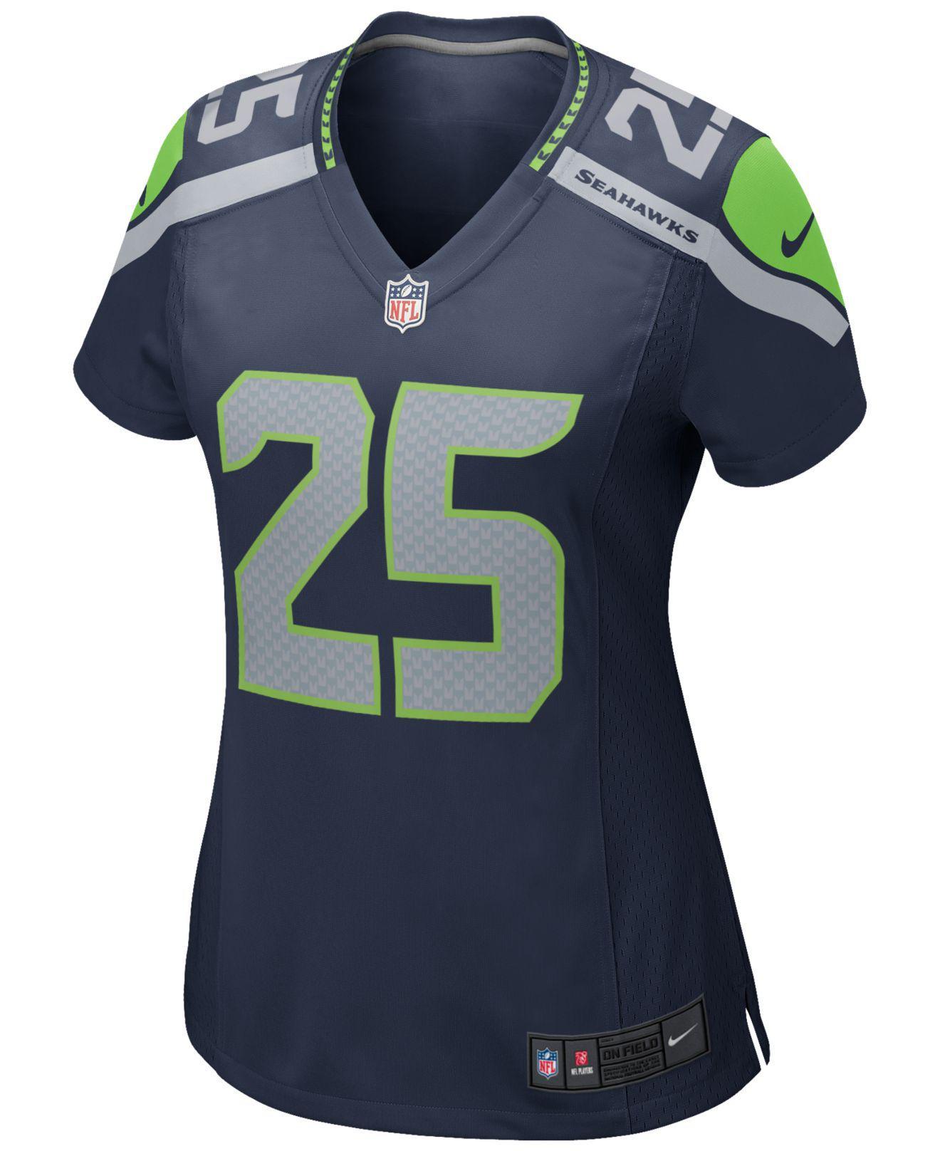 Lyst - Nike Women s Richard Sherman Seattle Seahawks Game Jersey in Blue 3fb591568
