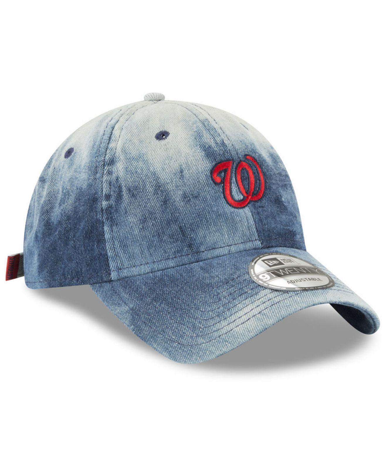 detailed look 05180 126de 26.00 4d224 dddd7  coupon for washington nationals denim wash out 9twenty  cap for men lyst. view fullscreen 4d2b7