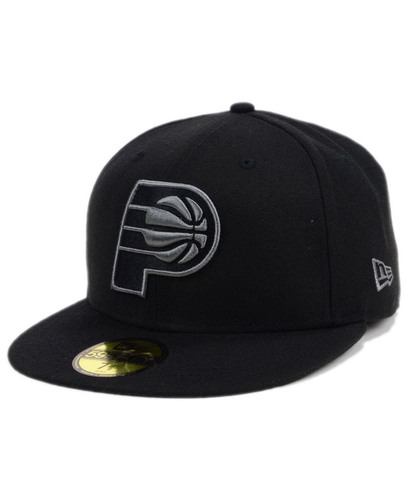 promo code 82460 996a1 ... where can i buy ktz indiana pacers black graph 59fifty cap for men lyst.  view