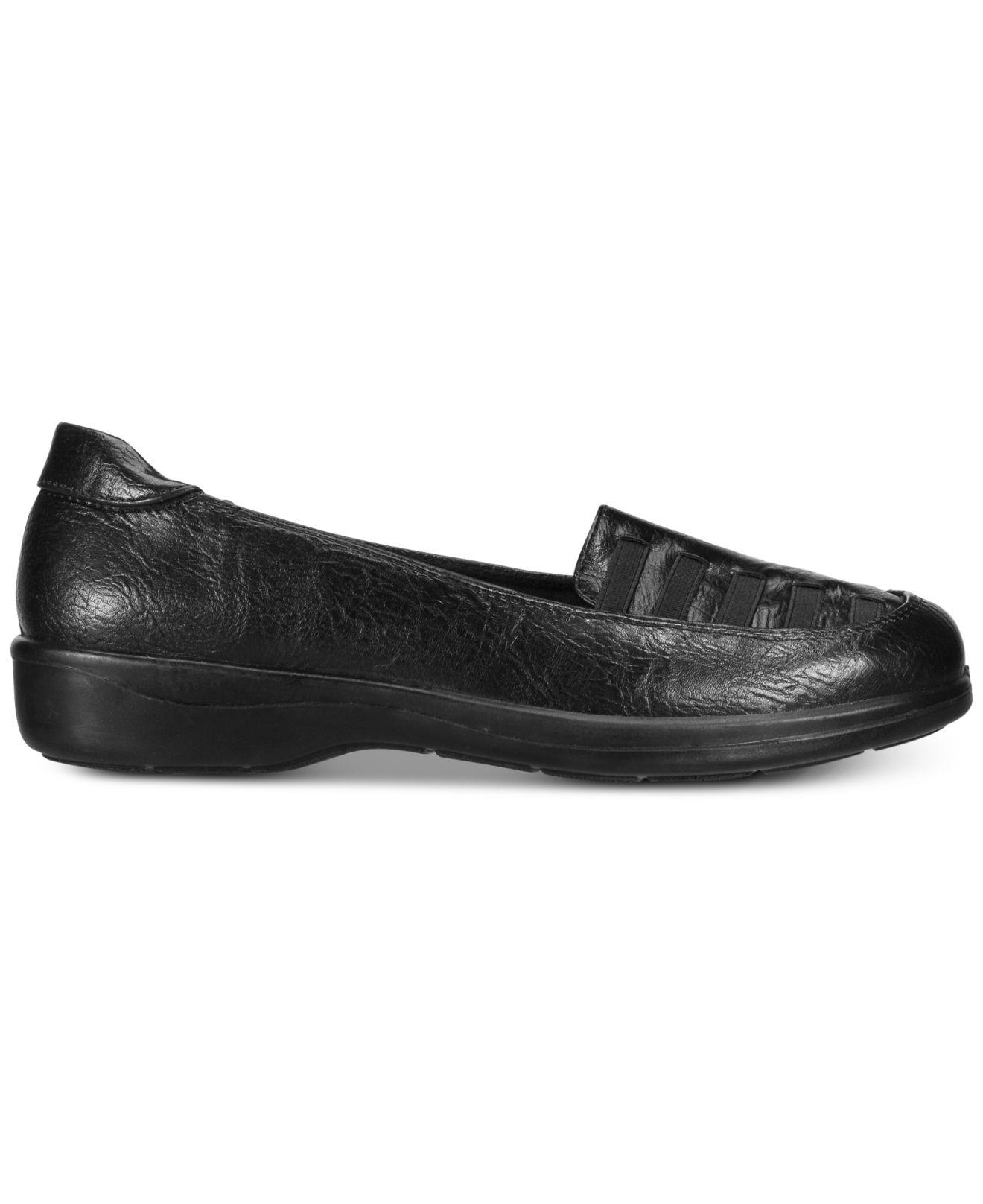 bf156439107c0 Lyst - Easy Street Genesis Loafers in Black