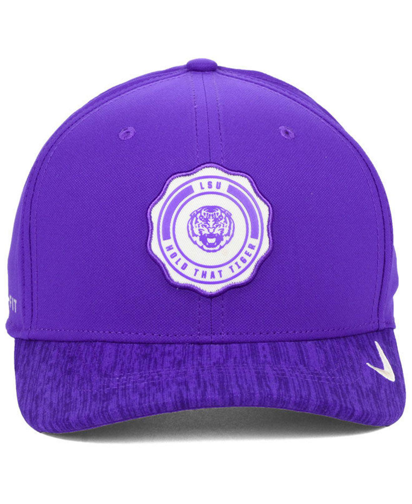 buy popular c7c08 b1955 Lyst - Nike Lsu Tigers Rivalry Swooshflex Stretch Fitted Cap in Purple for  Men