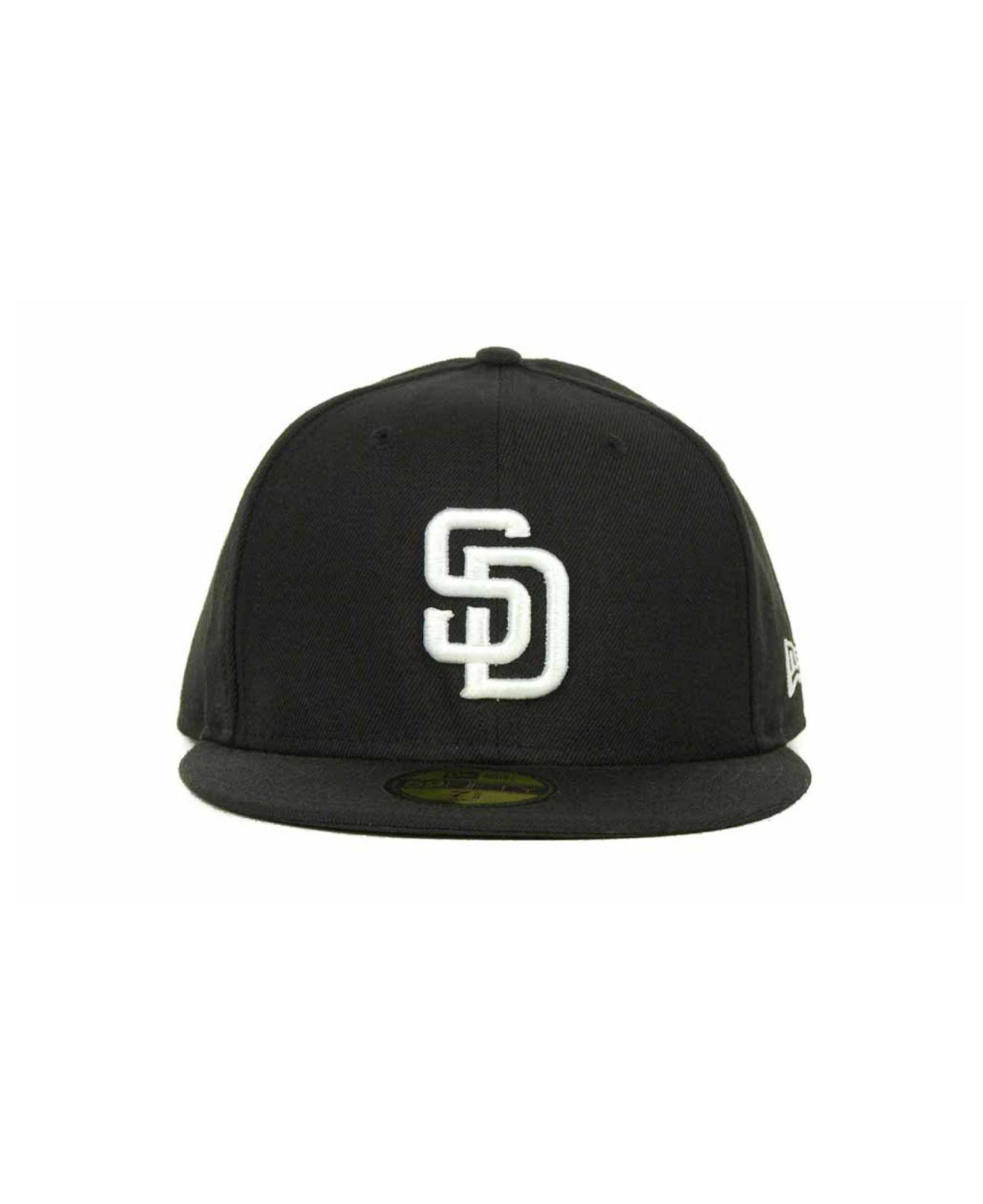 b4b6379455d Lyst - KTZ San Diego Padres Mlb B-dub 59fifty Cap in Black for Men