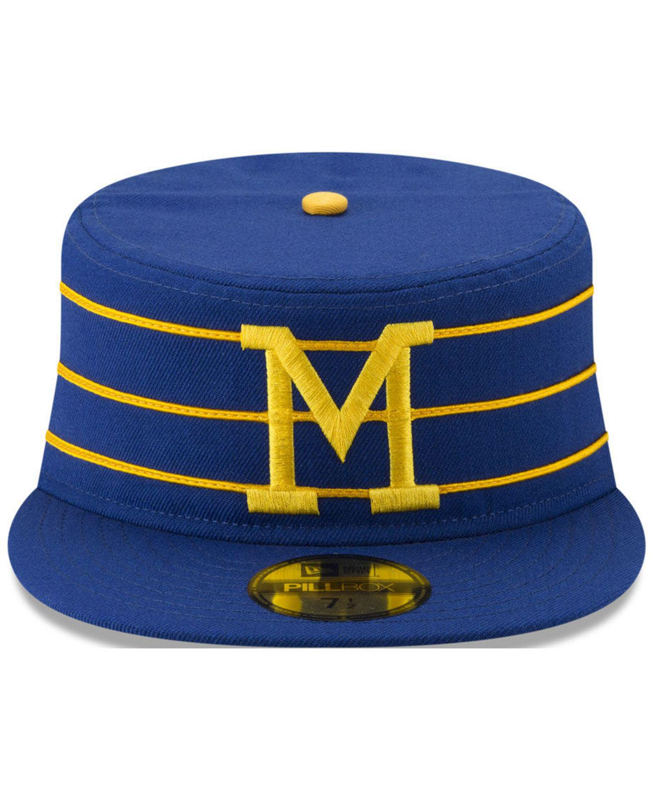 get cheap 9662e fad31 KTZ Milwaukee Brewers Pillbox 59fifty-fitted Cap in Blue for Men - Lyst