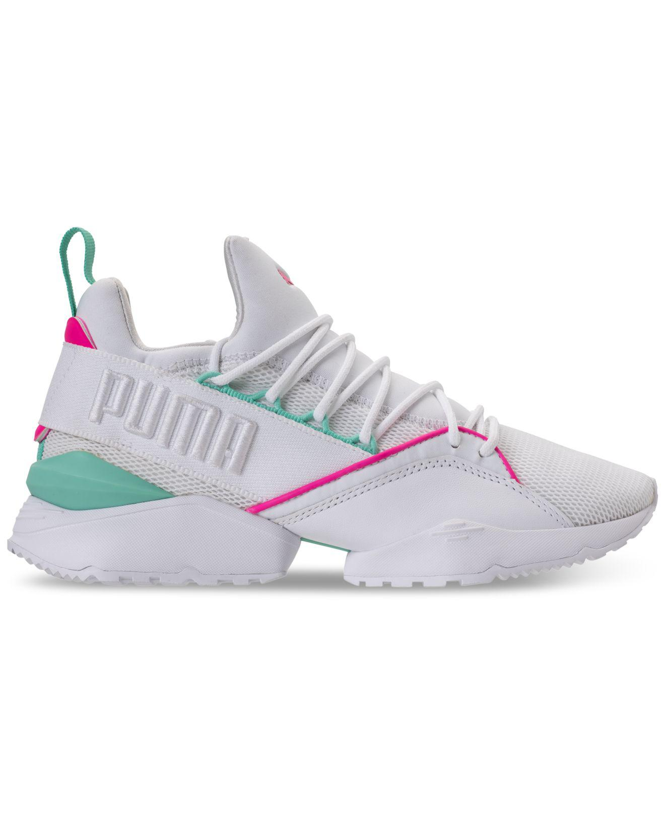 23905d775e9f10 Lyst - PUMA Muse Maia Varsity Casual Sneakers From Finish Line