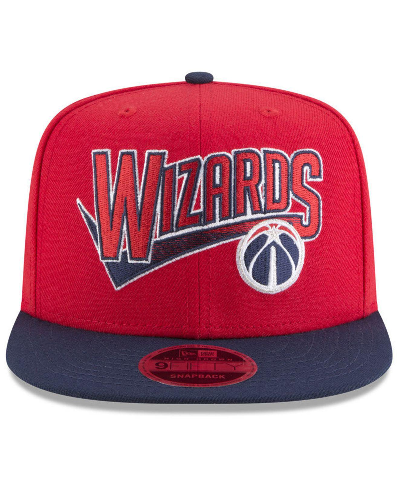 free shipping 66246 216d5 ... best price lyst ktz washington wizards retro tail 9fifty snapback cap  in red for men 73de9