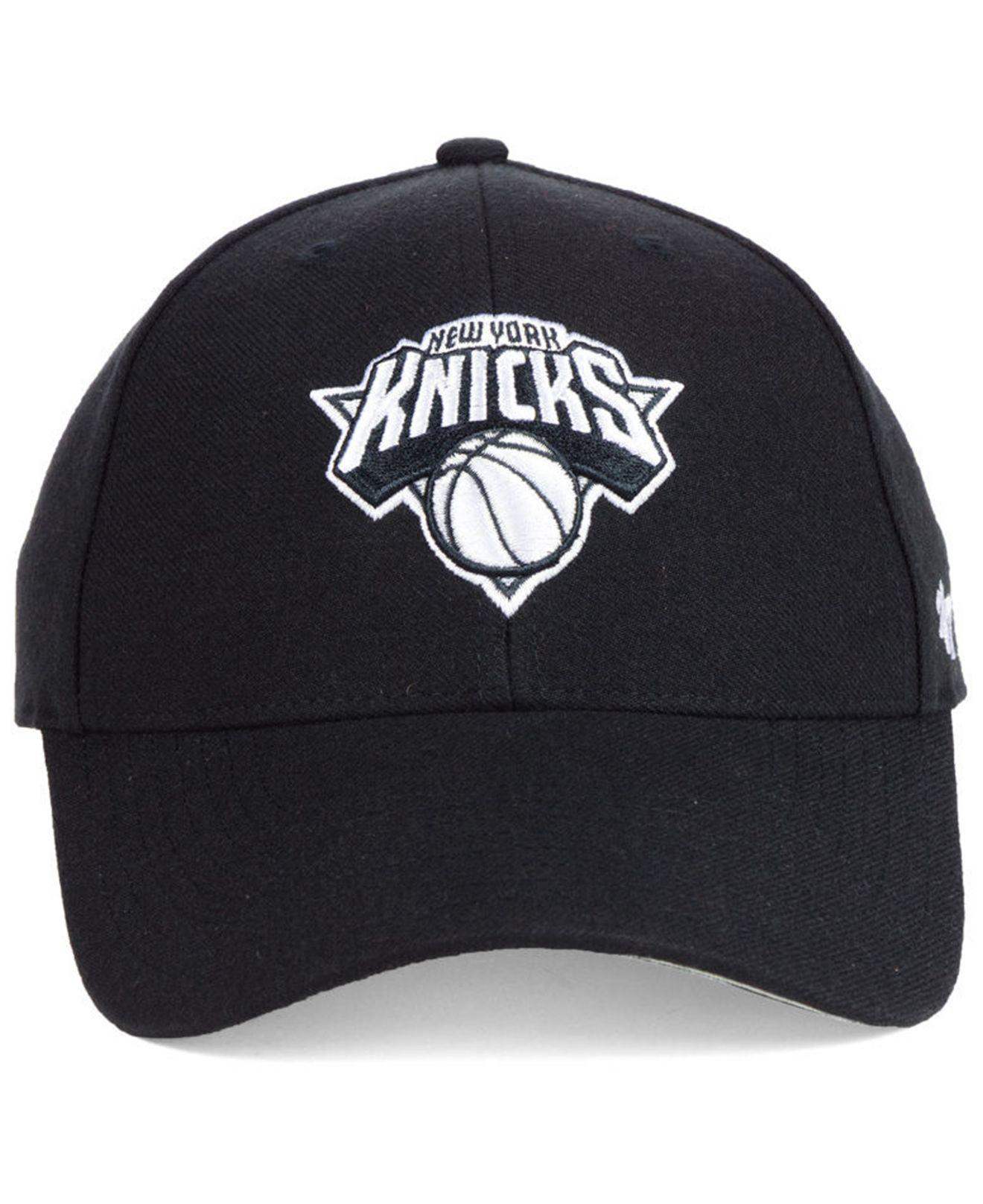 a63d464c12a Lyst - 47 Brand New York Knicks Black White Mvp Cap in Black for Men