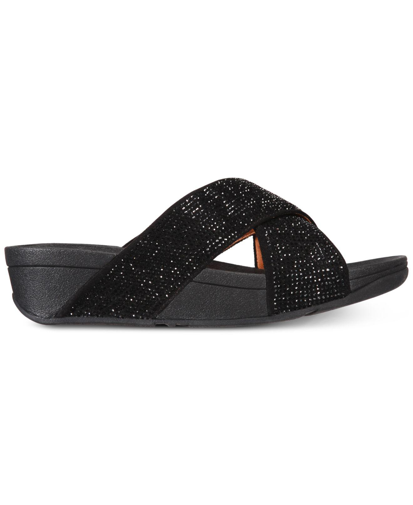 5adcc4bc8c4 Lyst - Fitflop Ritzy Slide Sandals in Black
