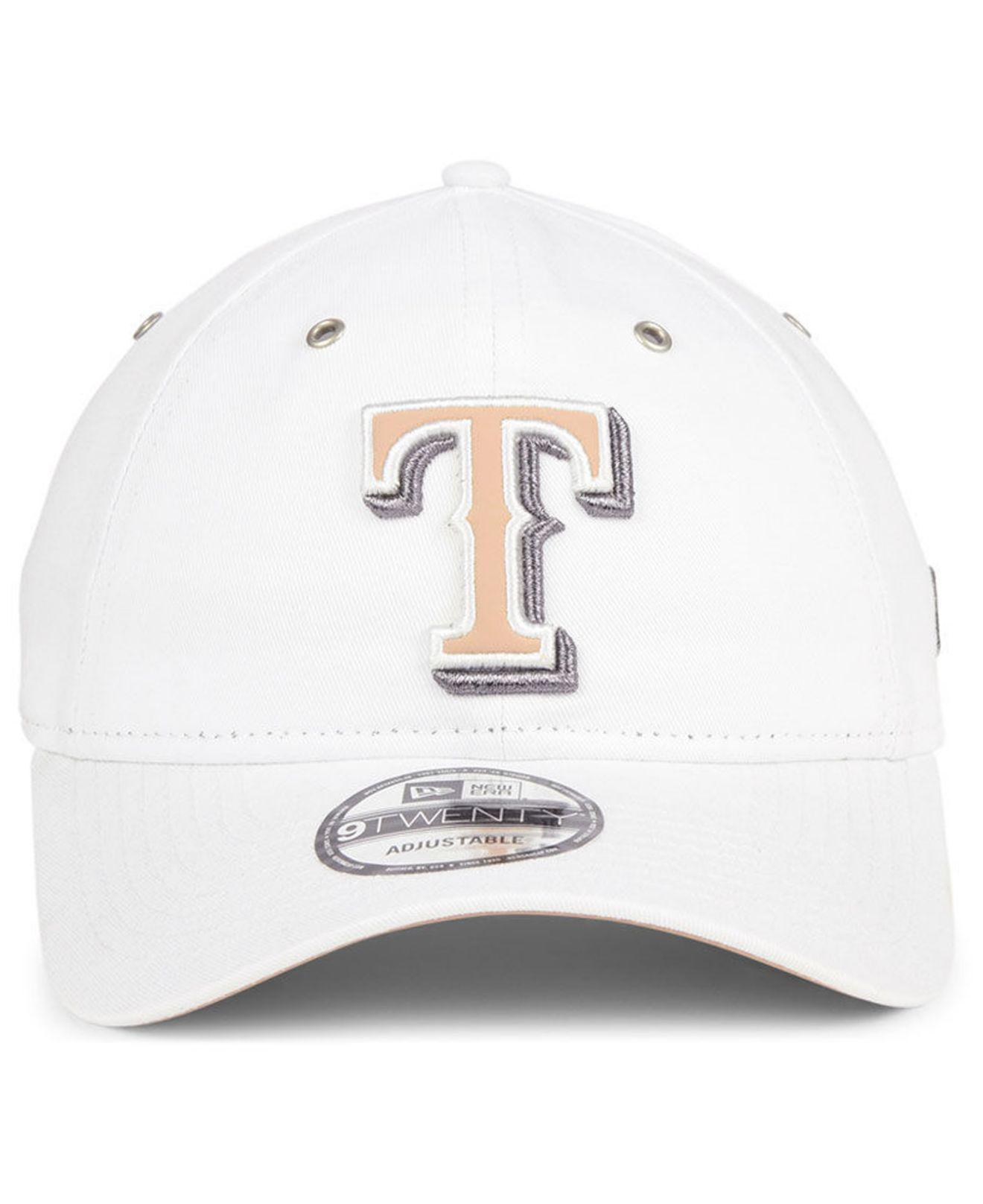 purchase cheap 65d2b da3f1 Lyst - KTZ Texas Rangers Metallic Pastel 9twenty Cap in White