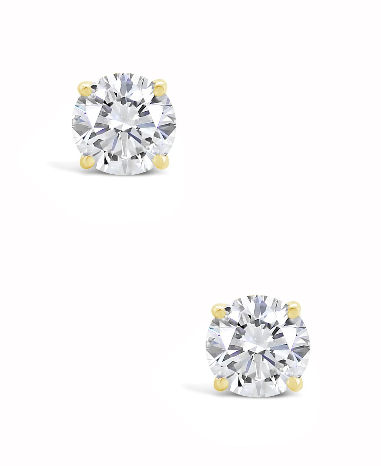 08dc57238da Lyst - Macy s Certified Round Diamond Stud Earrings (2 Ct. T.w.) In 14k  White Gold Or Yellow Gold in Yellow - Save 66%