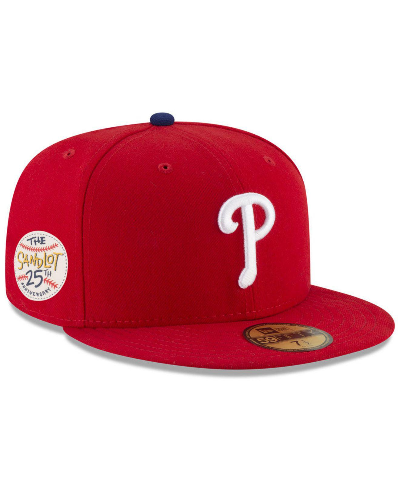 buy online 37ac1 a915d KTZ Philadelphia Phillies Sandlot Patch 59fifty Fitted Cap in Red ...