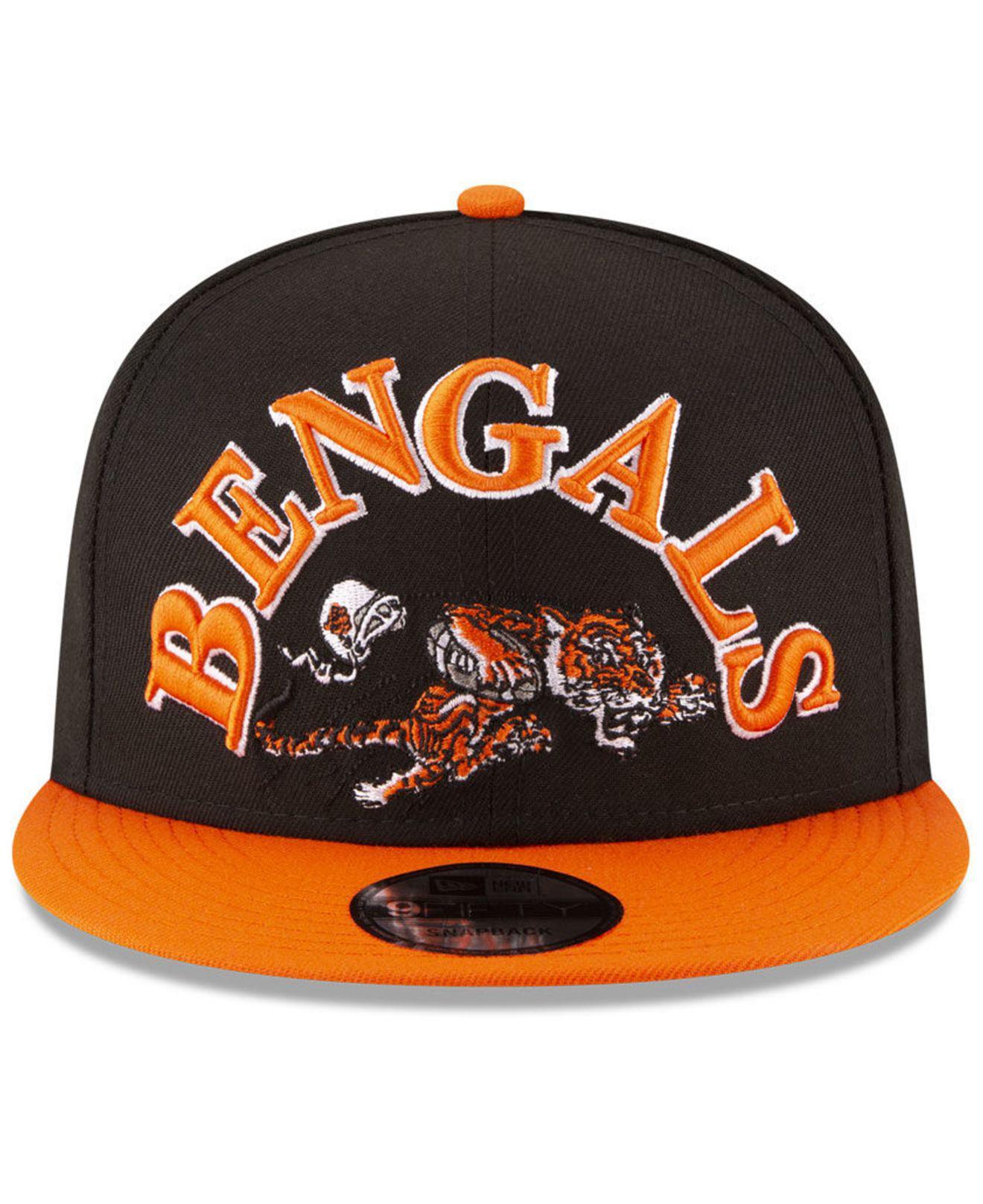 super popular c0054 dabb9 KTZ Cincinnati Bengals Retro Logo 9fifty Snapback Cap in Orange for ...