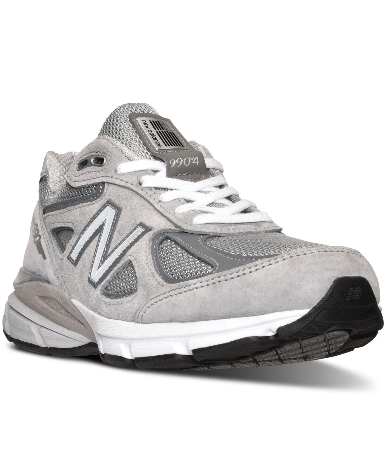 New Balance - Gray Women s W990gl4 Running Sneakers From Finish Line -  Lyst. View fullscreen bd5319eec442
