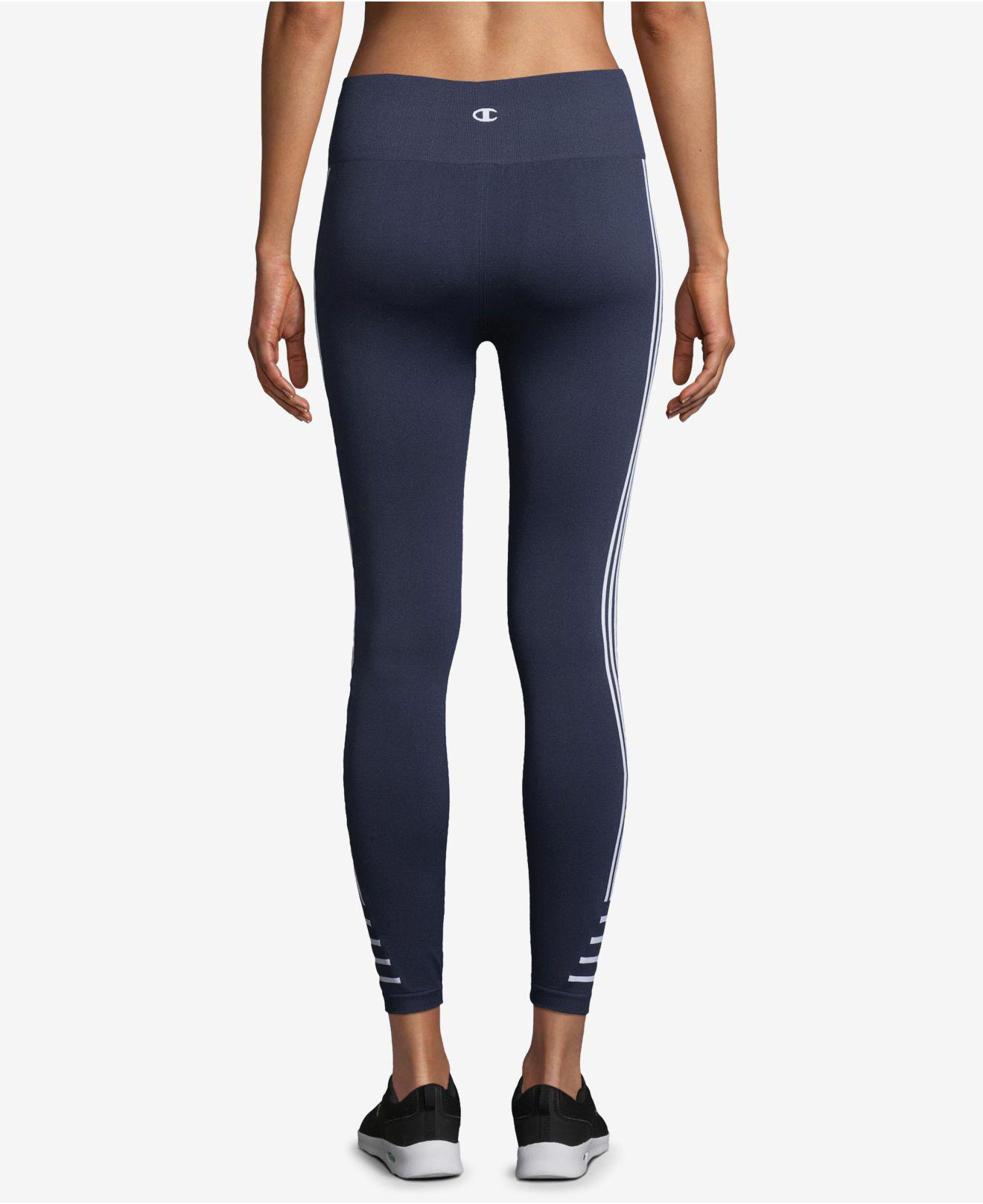 98452cb6dd6a Lyst - Champion Double Dry Seamless Ankle Leggings in Blue