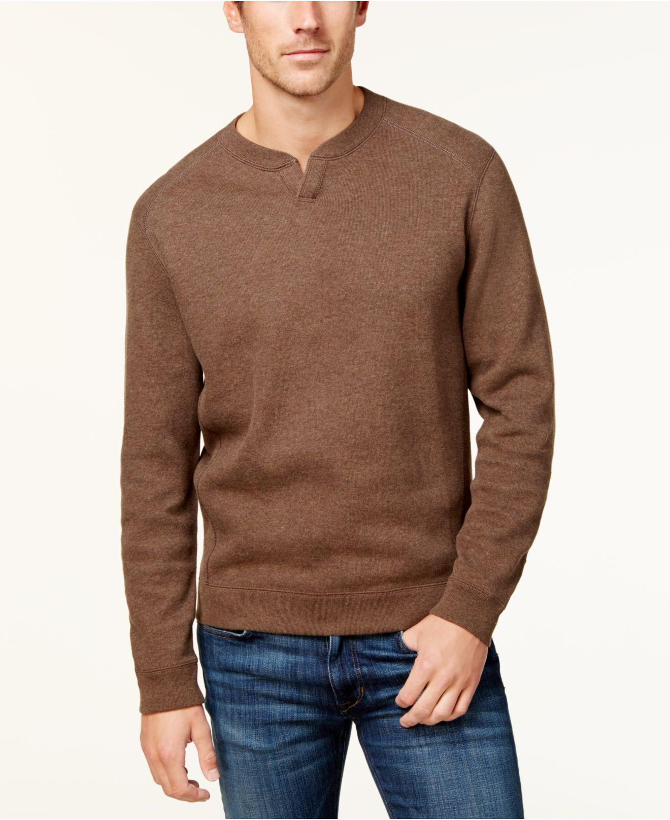Tommy bahama Men's Flip Side Classic Pima Cotton Sweater in Brown ...