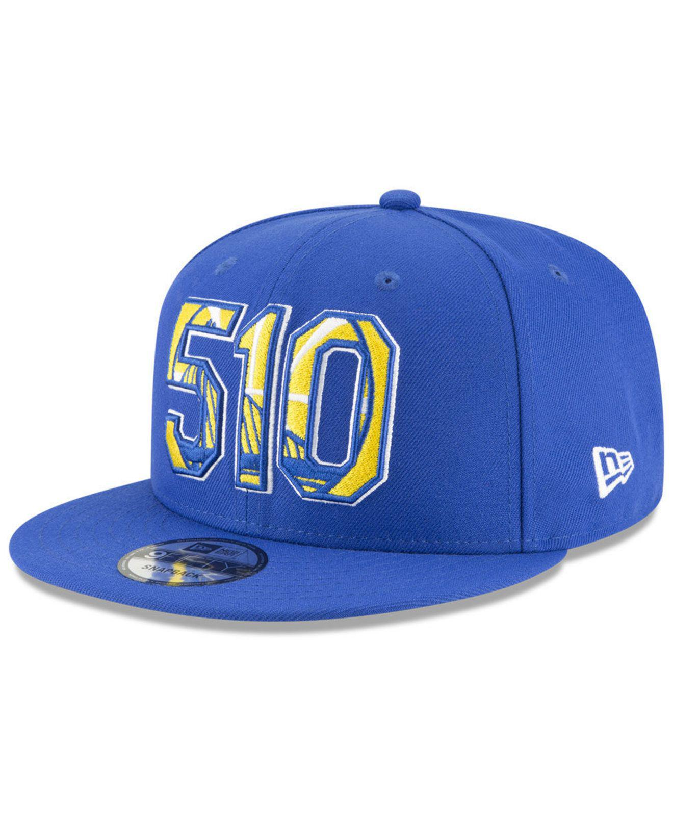 competitive price 920df f1eaa KTZ. Men s Blue Golden State Warriors Area Code 9fifty Snapback Cap