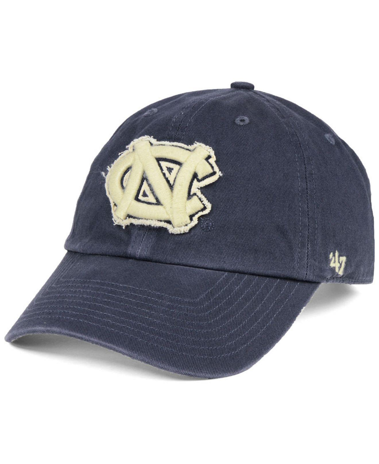 Lyst - 47 Brand North Carolina Tar Heels Double Out Clean Up Cap in ... c29e070705