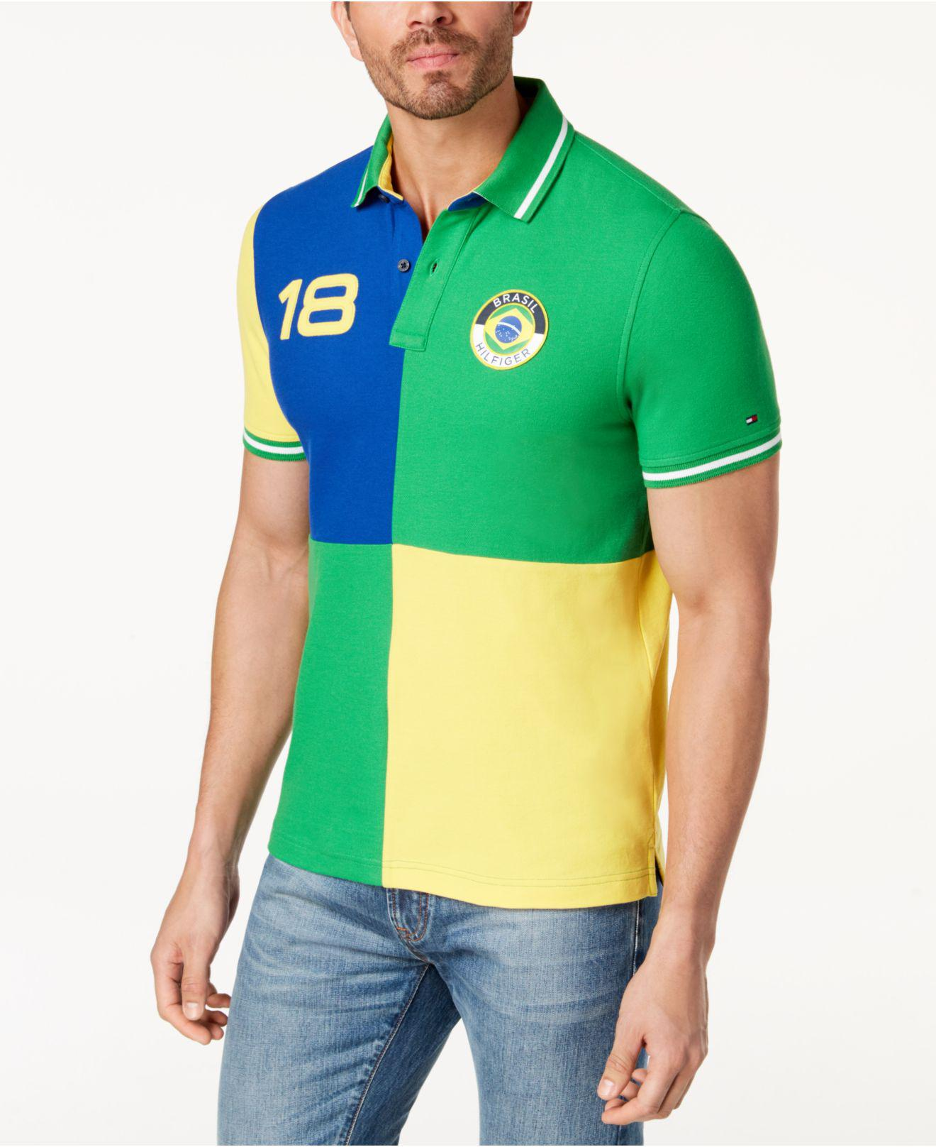 91ad19d1 Tommy Hilfiger Classic Fit Country Polo, Created For Macy's in Green ...