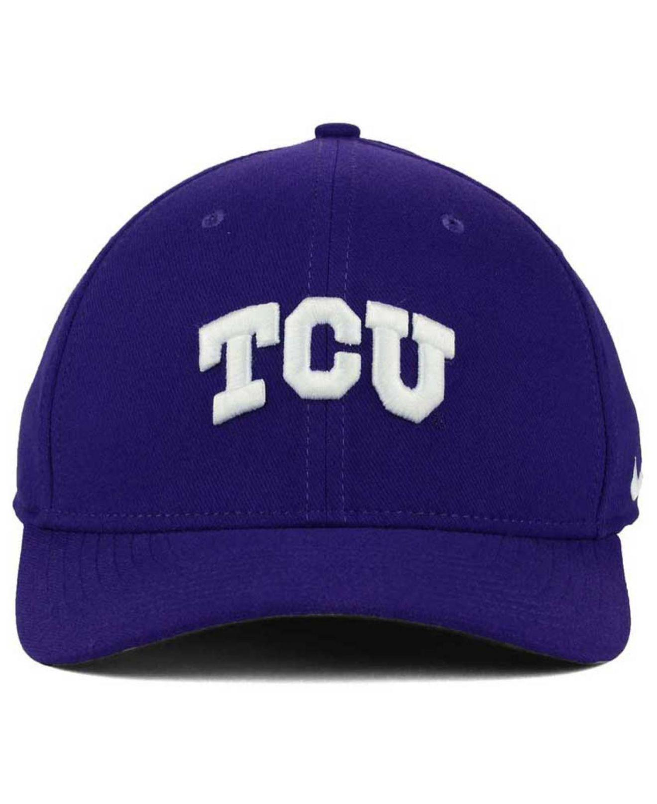 san francisco de0bd 58cfe ... low price lyst nike tcu horned frogs classic swoosh cap in purple for  men 64185 32296