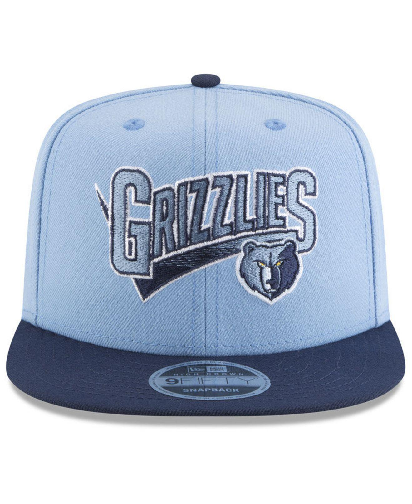 cd4a29d8929 ... get lyst ktz memphis grizzlies retro tail 9fifty snapback cap in blue  for men 2d298 f830b