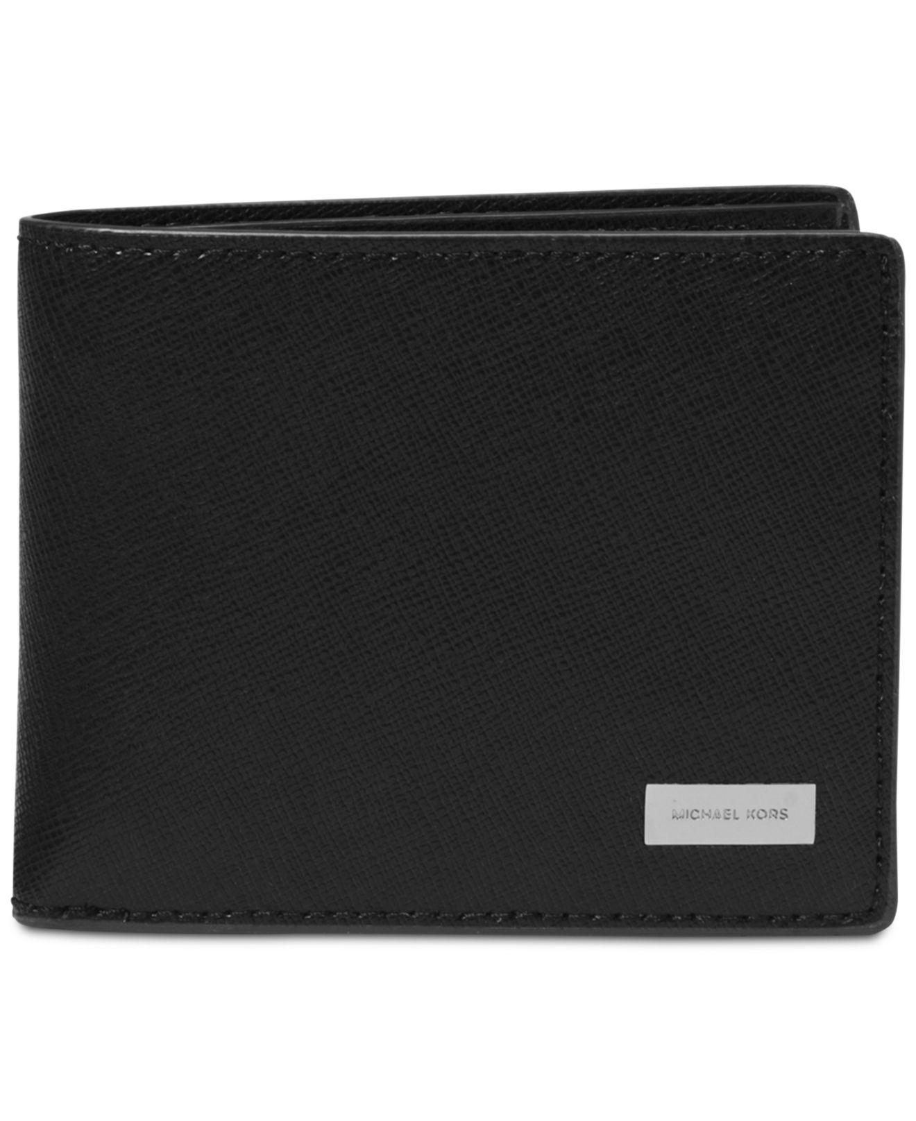 4f29c297db1e8 Michael Kors Men s Andy Leather Bifold Wallet in Black for Men - Lyst