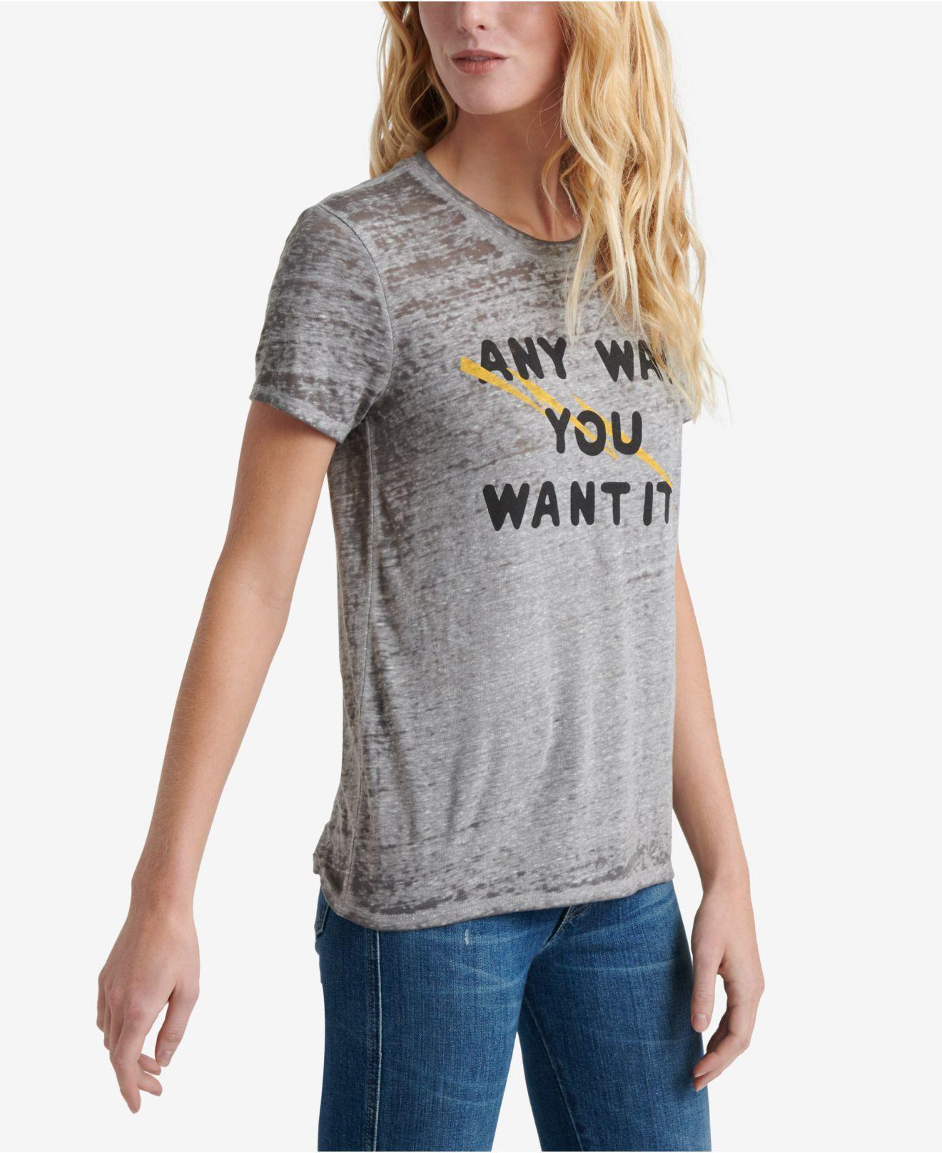 641e8d804 Lucky Brand - Gray Journey Graphic Band T-shirt - Lyst. View fullscreen