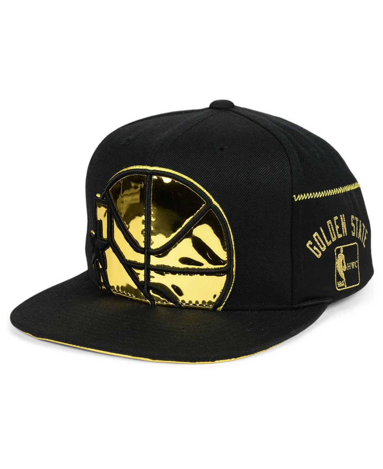 298d6641fdfdc ... store lyst mitchell ness golden state warriors patent cropped snapback  52cc0 f8297