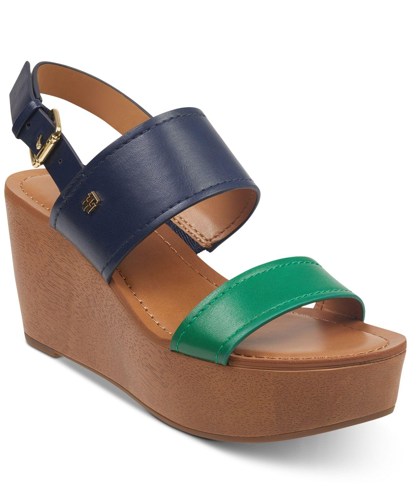 06dad9c2062 Lyst - Tommy Hilfiger Wilder Wedges in Blue