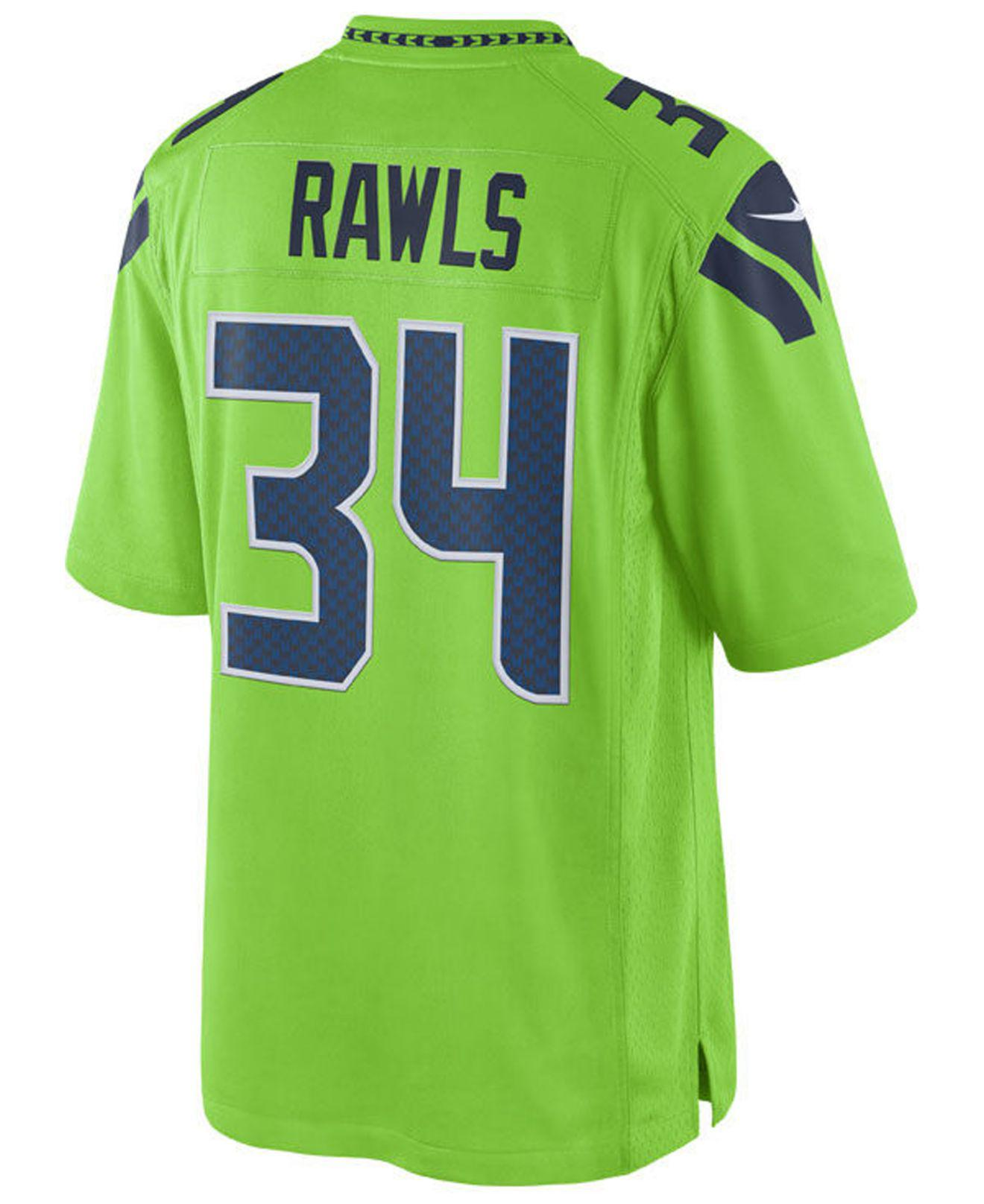 b8d9d907913 ... france nike. mens green thomas rawls seattle seahawks limited color  rush jersey 40a6d 836d2