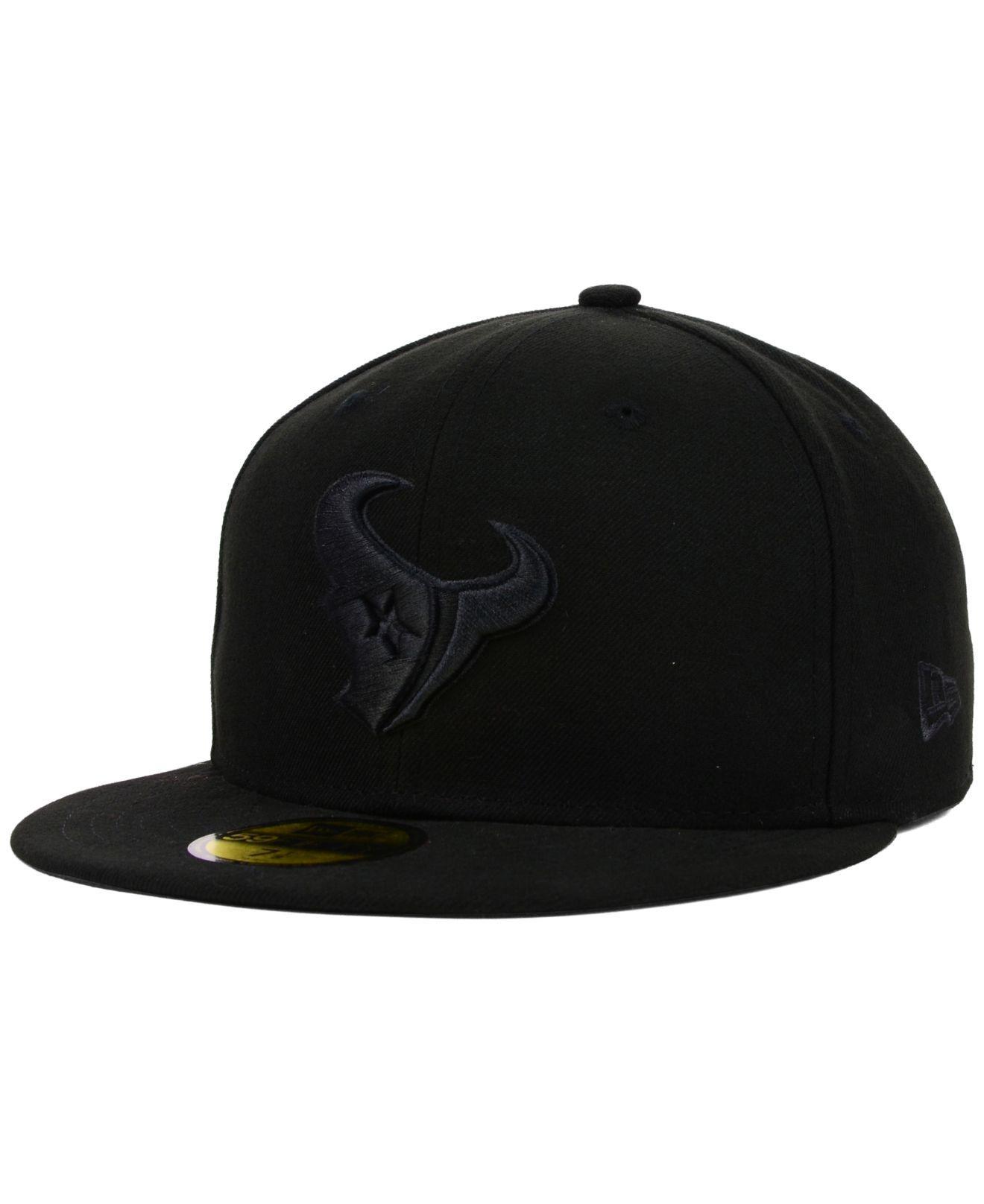 innovative design 27b76 1729b ... canada ktz houston texans nfl black on black 59fifty cap for men lyst.  view fullscreen