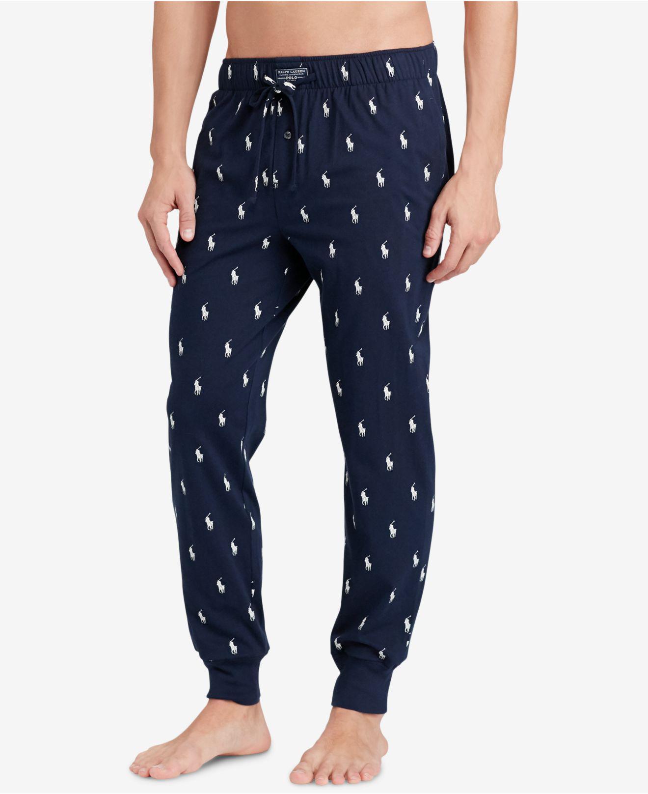 655ea51c93e9 Lyst - Polo Ralph Lauren Pony Print Jogger Pants in Blue for Men ...