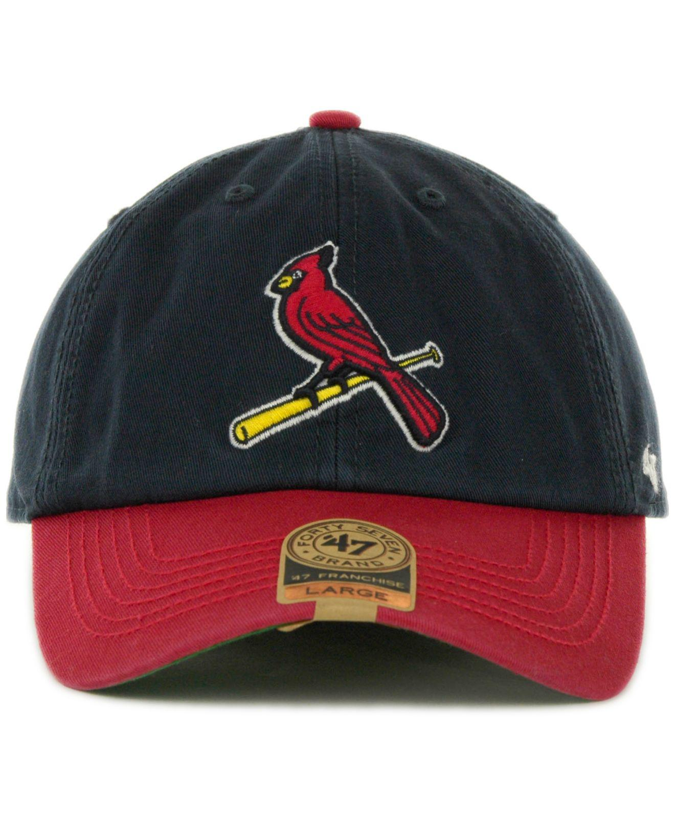 efe5ccdee62e1 ... new style lyst 47 brand st. louis cardinals franchise cap in blue for  men 6ff47