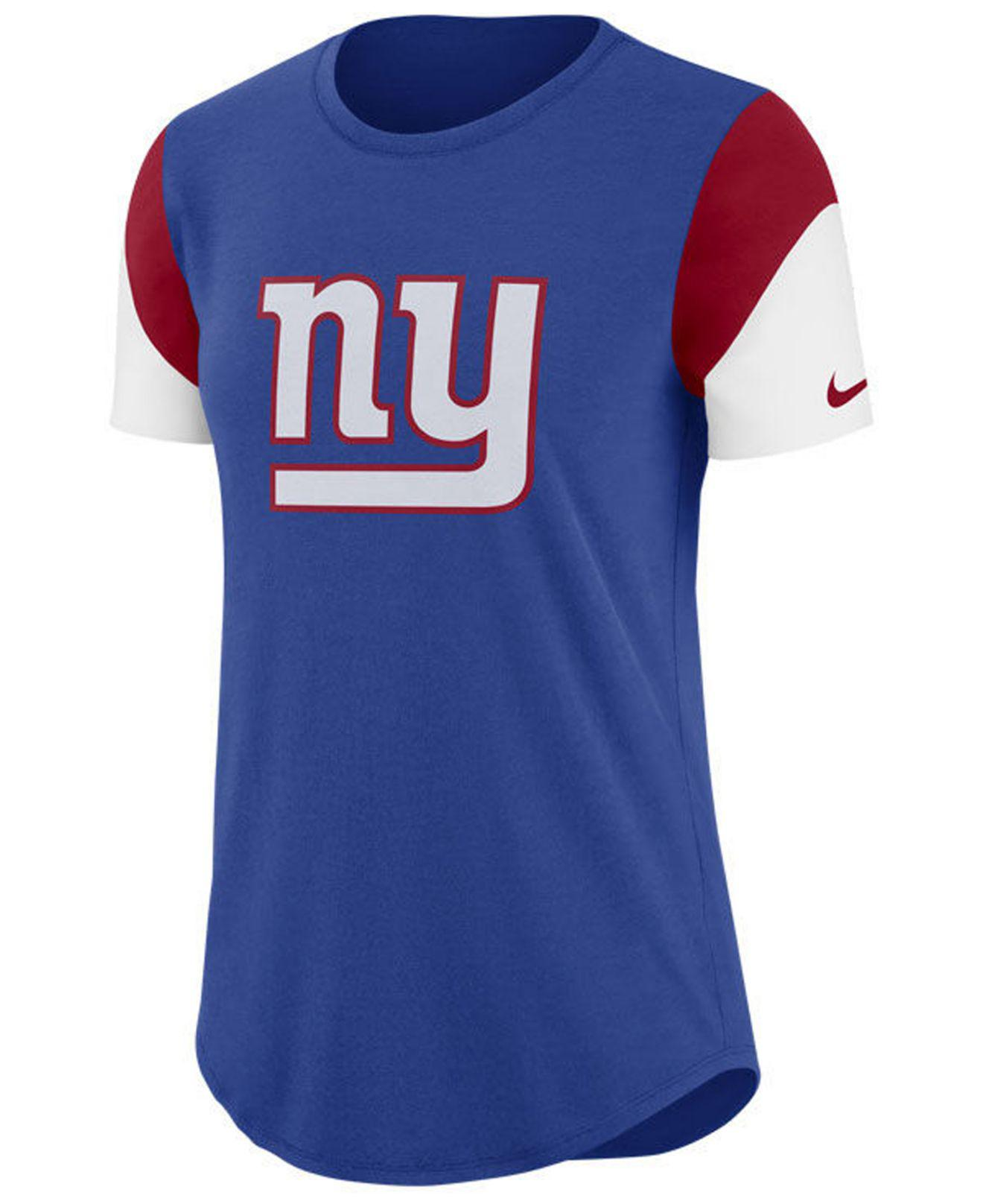 new style 85dde 9a671 Nike New York Giants Retro Tri Blend T Shirt Red ...