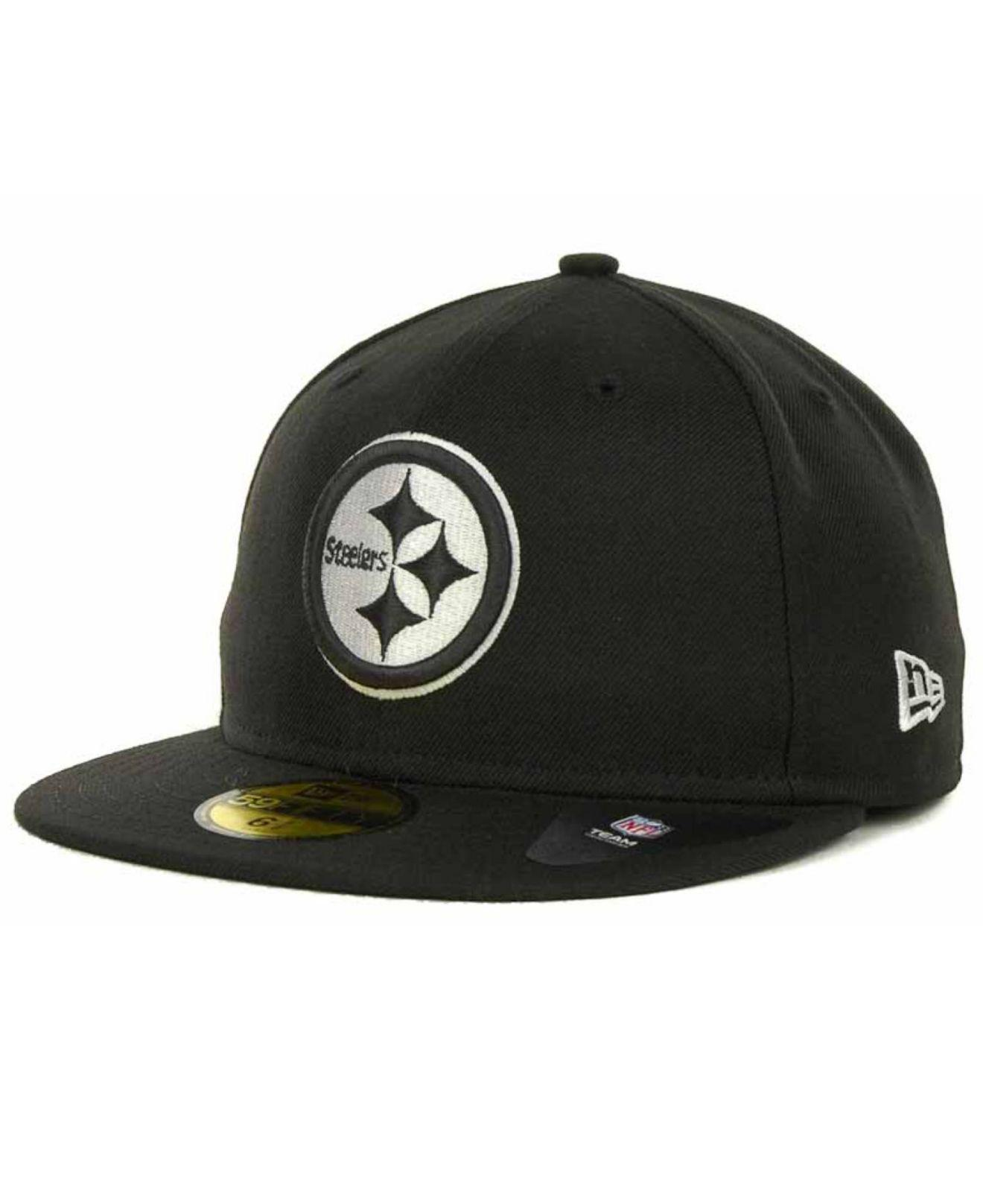 7a466aab4d5 Lyst - Ktz Pittsburgh Steelers 59fifty Cap in Black for Men