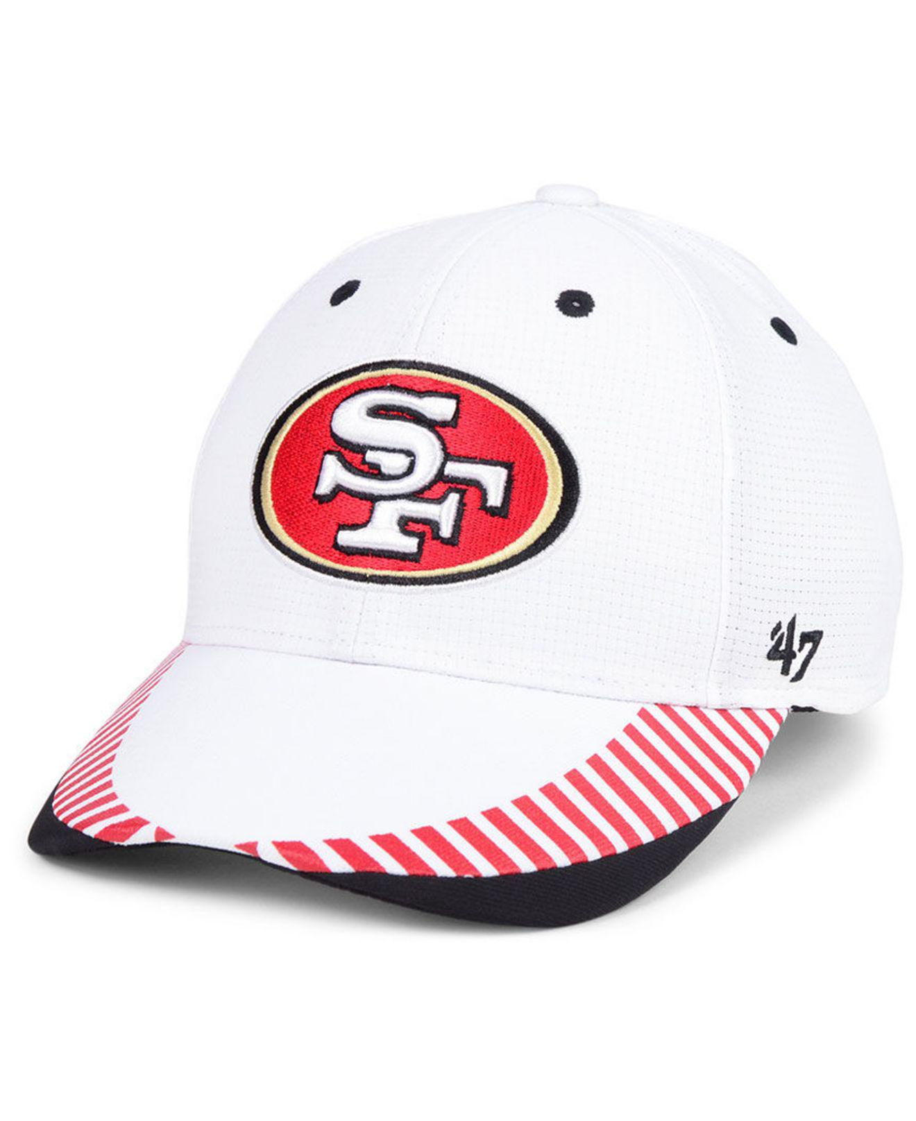 promo code 7f585 ce6c1 ... cheapest 47 brand red san francisco 49ers tantrum contender flex cap  for men lyst. view