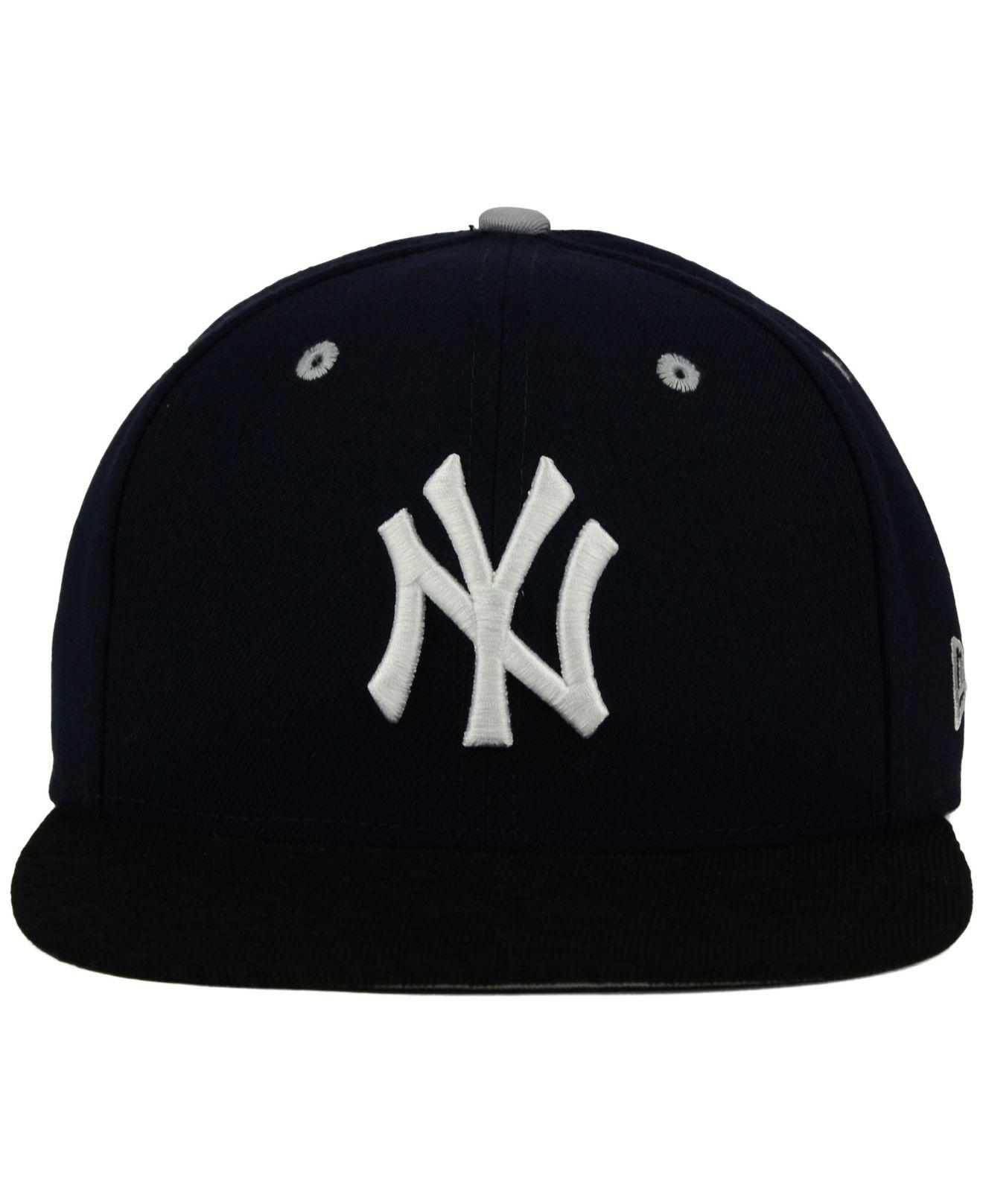 985cfdc44c90a ... inexpensive lyst ktz new york yankees tone 9fifty snapback cap in blue  for men df29f 17e33