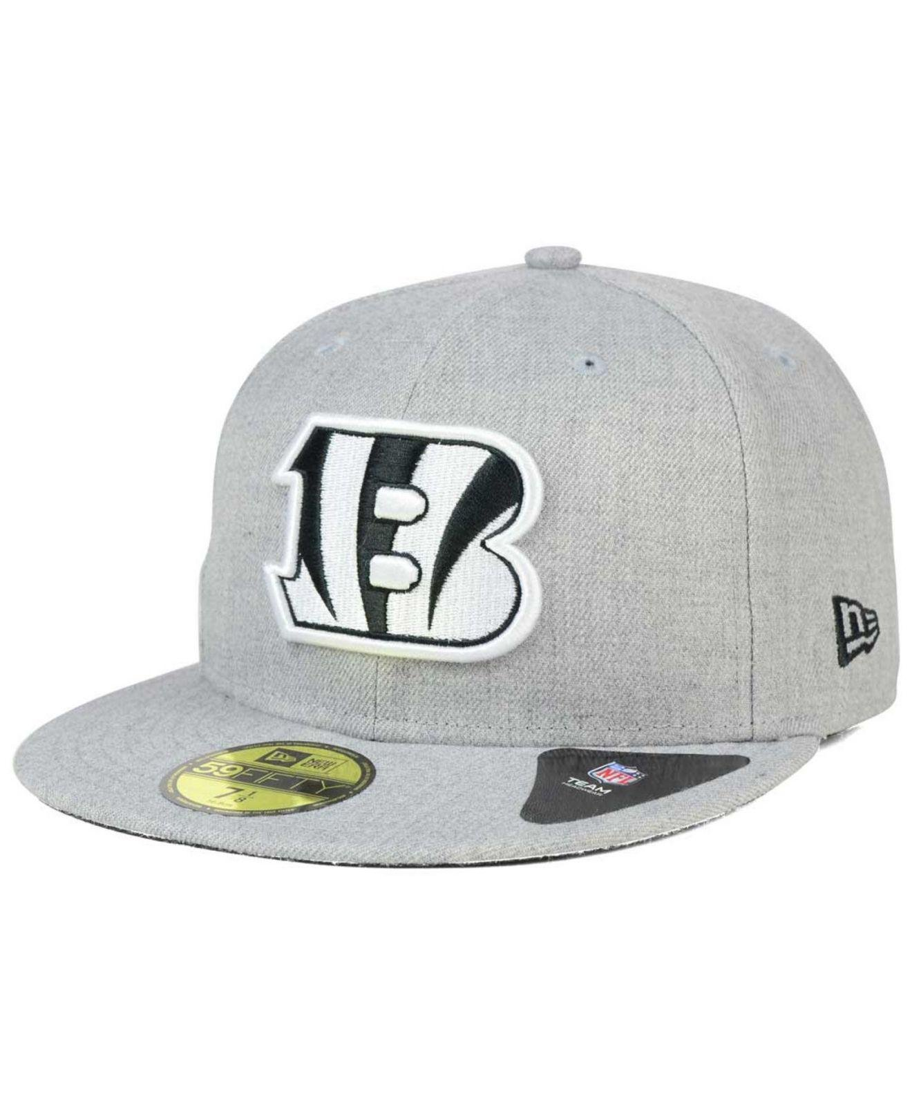 Lyst - KTZ Cincinnati Bengals Heather Black White 59fifty Cap in ... 638630324f3a