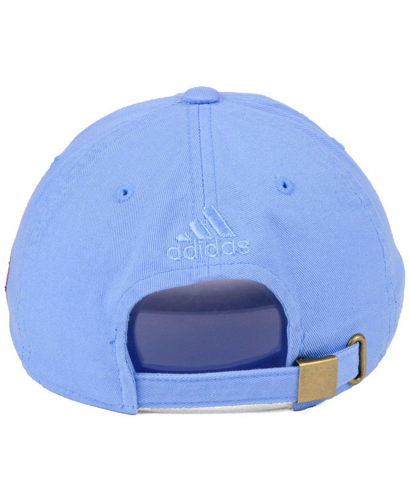 brand new baba8 2d965 ... sale adidas blue new york city fc partial logo dad cap for men lyst.  view