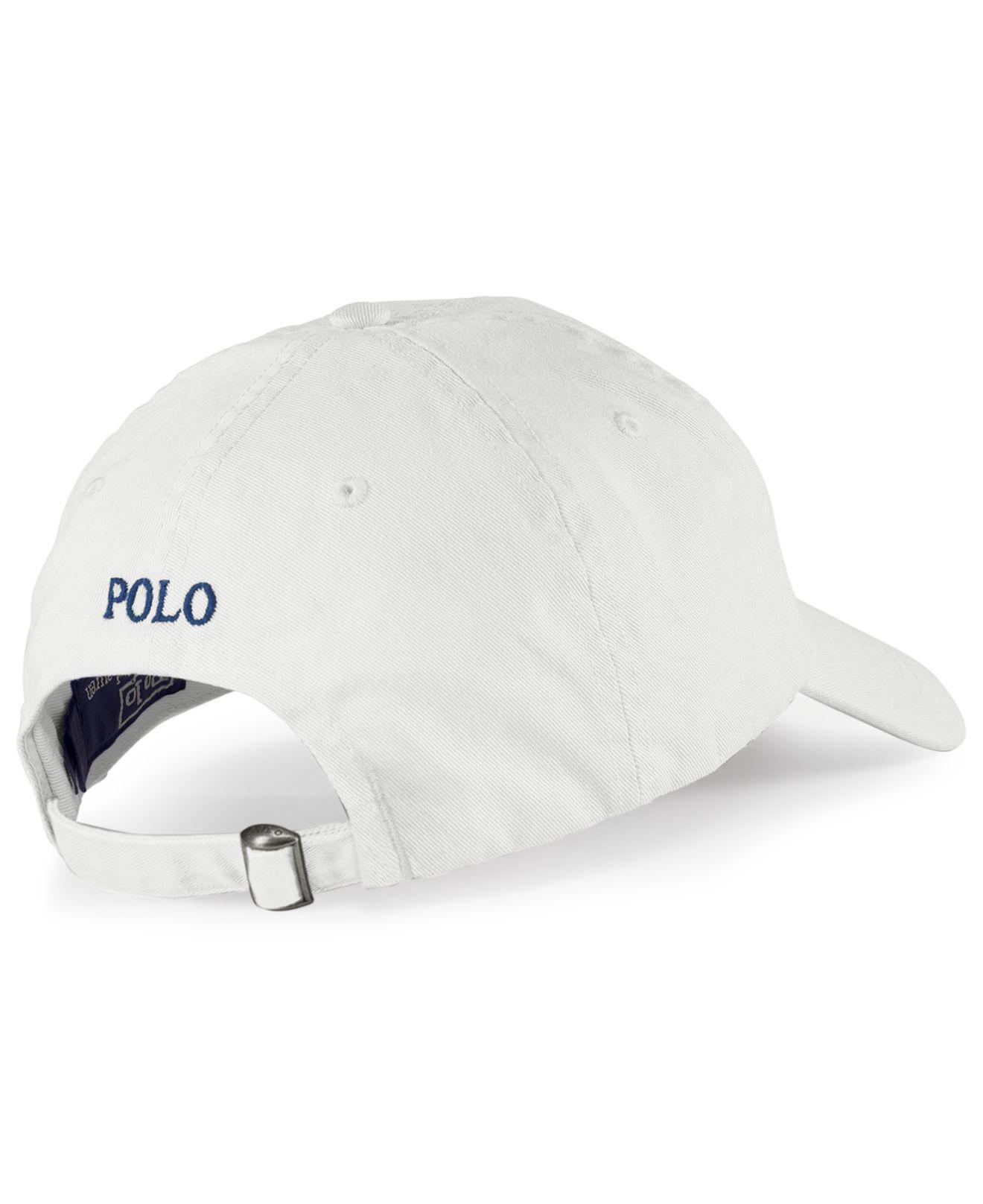 812f025ef Polo Ralph Lauren - White Classic Sport Cap for Men - Lyst. View fullscreen