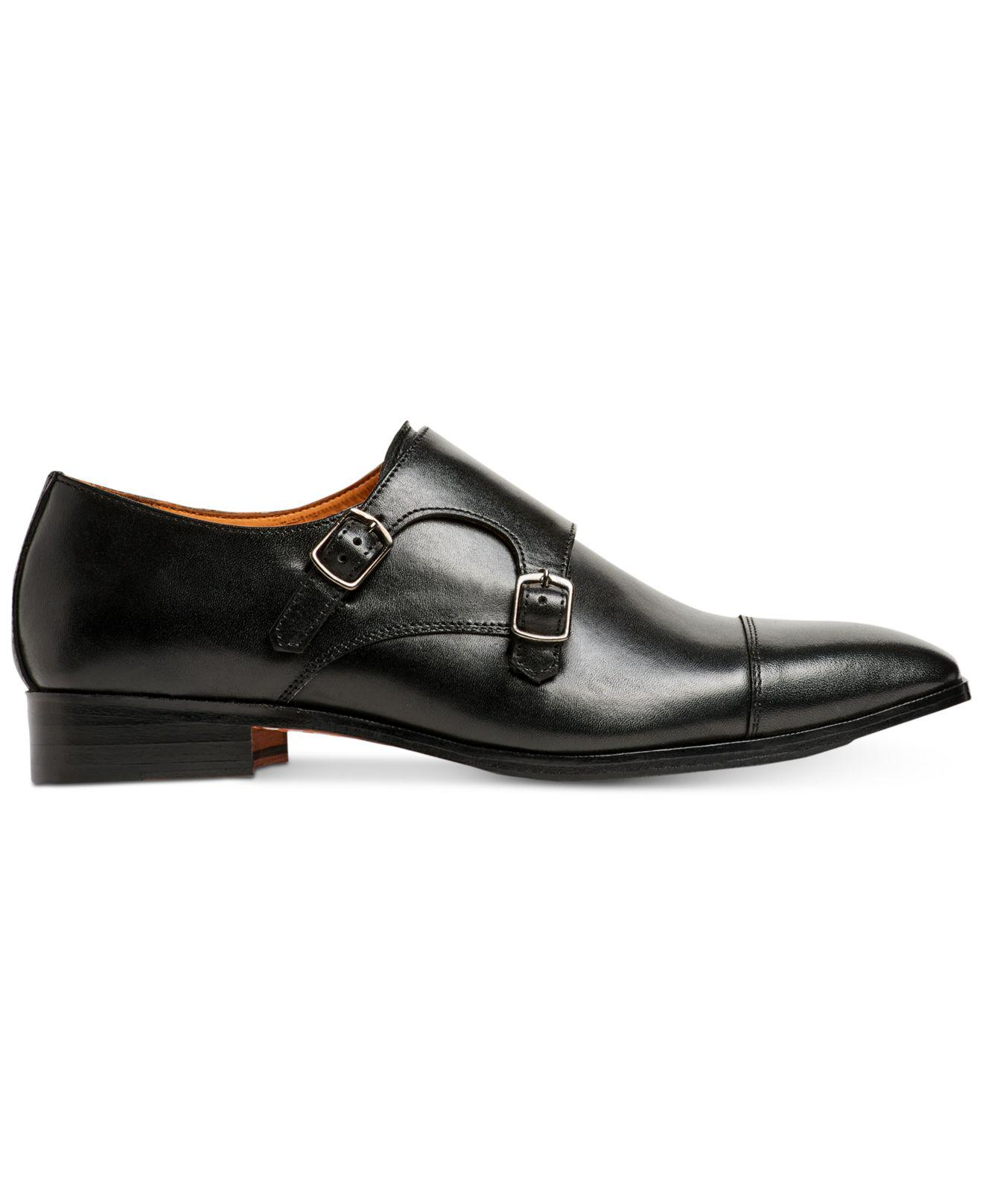 0f6ed7c891a Lyst - Carlos By Carlos Santana Passion Double Monk-strap Loafers in Black  for Men