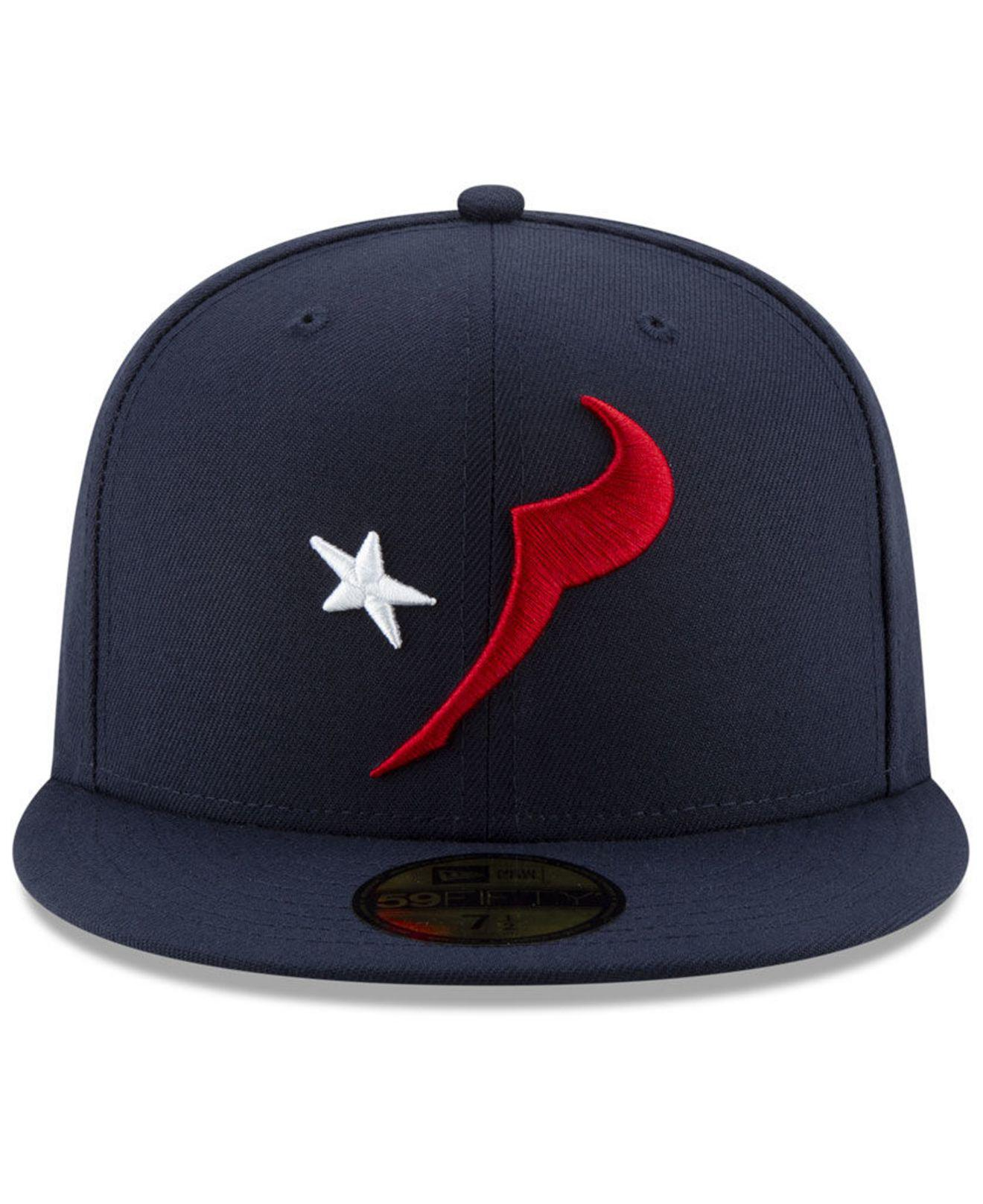 de0b0e50aee Lyst - KTZ Houston Texans Logo Elements Collection 59fifty Fitted Cap in  Blue