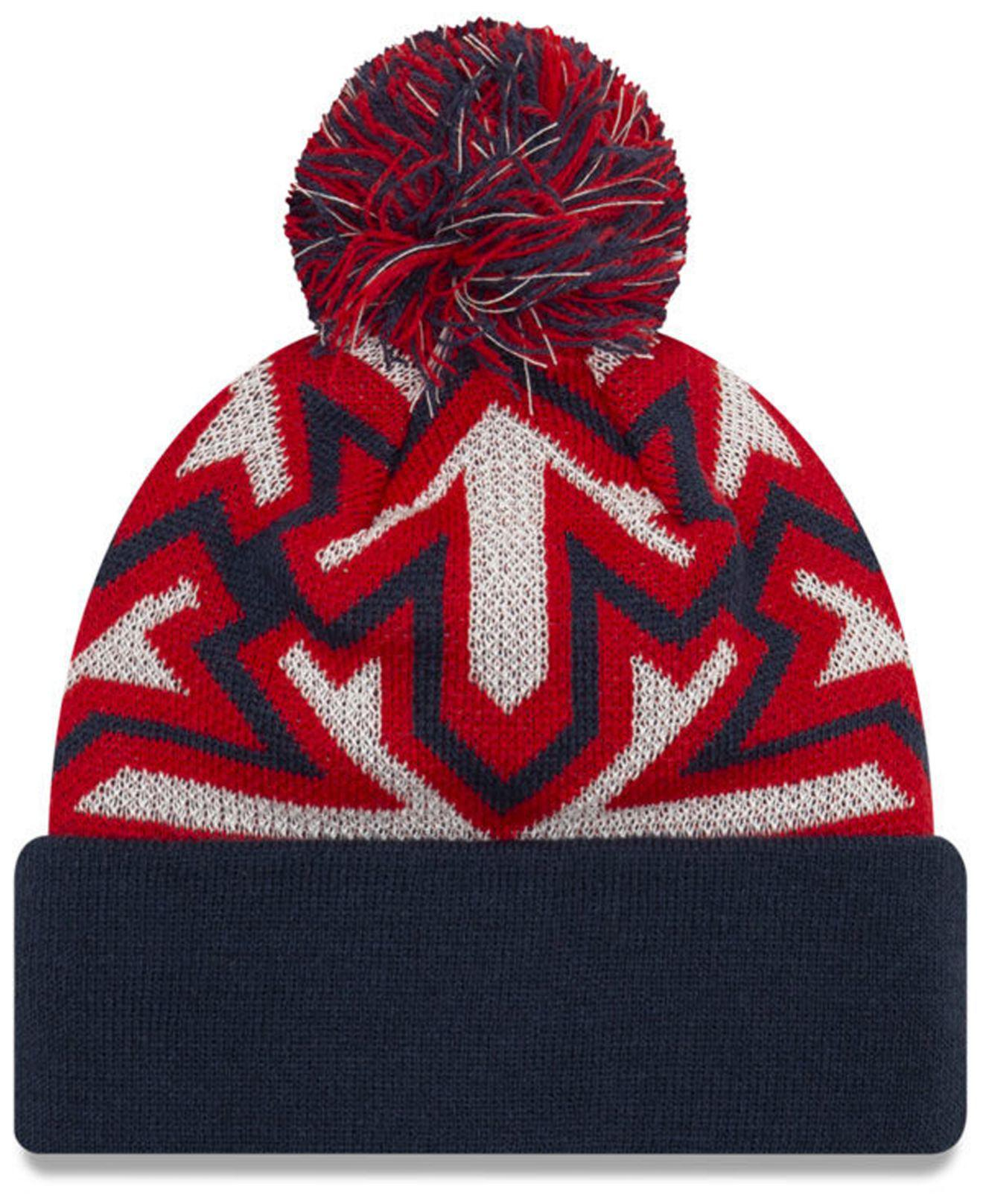 82485d5a74211 Lyst - KTZ Washington Wizards Glowflake Cuff Knit Hat in Blue for Men