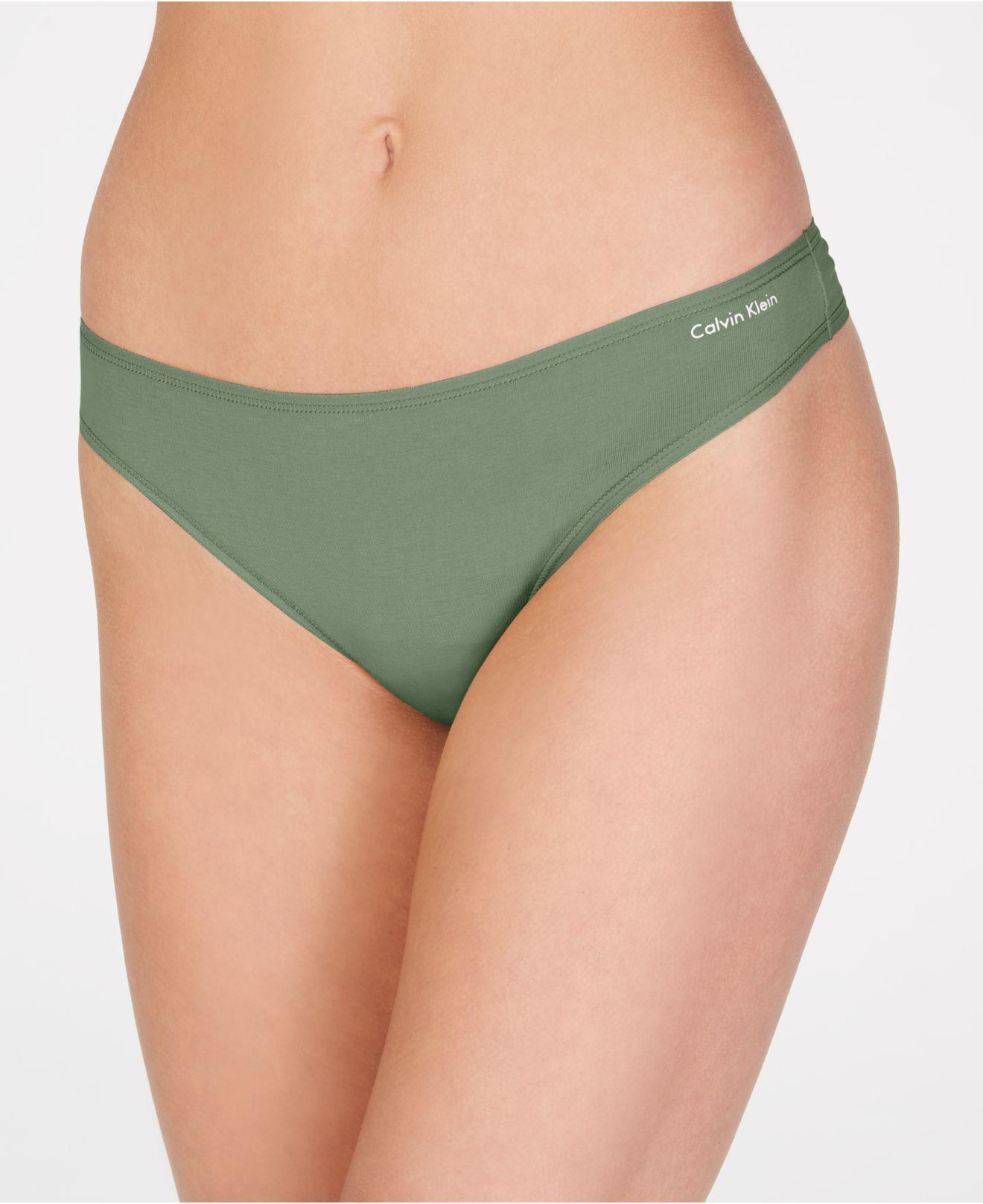 078135fa70 Calvin Klein - Green Cotton Form Thong Qd3643 - Lyst. View fullscreen