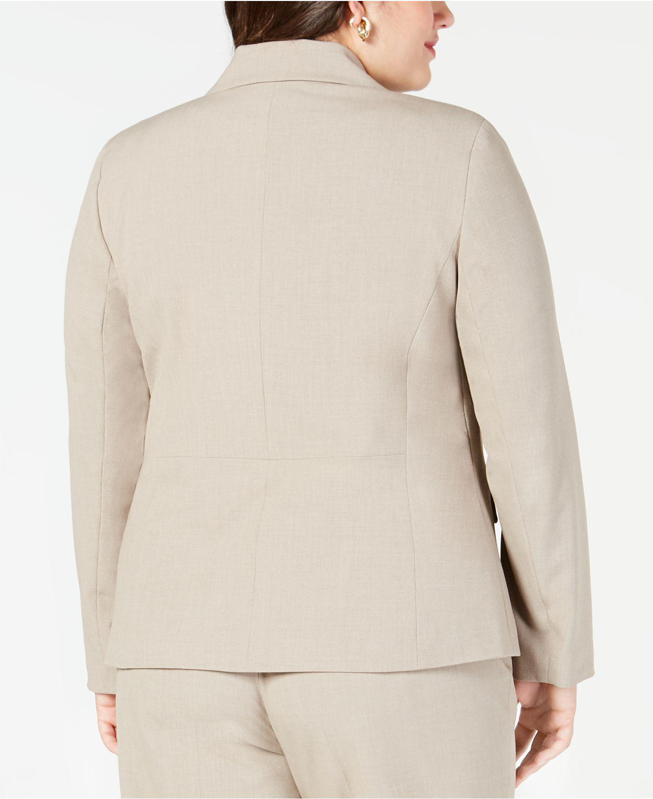 a354c79bb037 Lyst - Nine West Plus Size Crepe Two-button Jacket in Natural