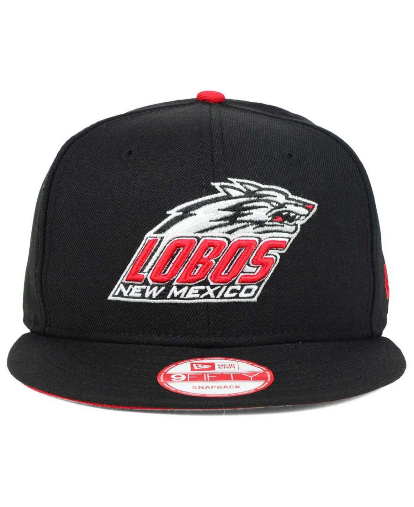 7852405254b Lyst - KTZ New Mexico Lobos Core 9fifty Snapback Cap in Black for Men